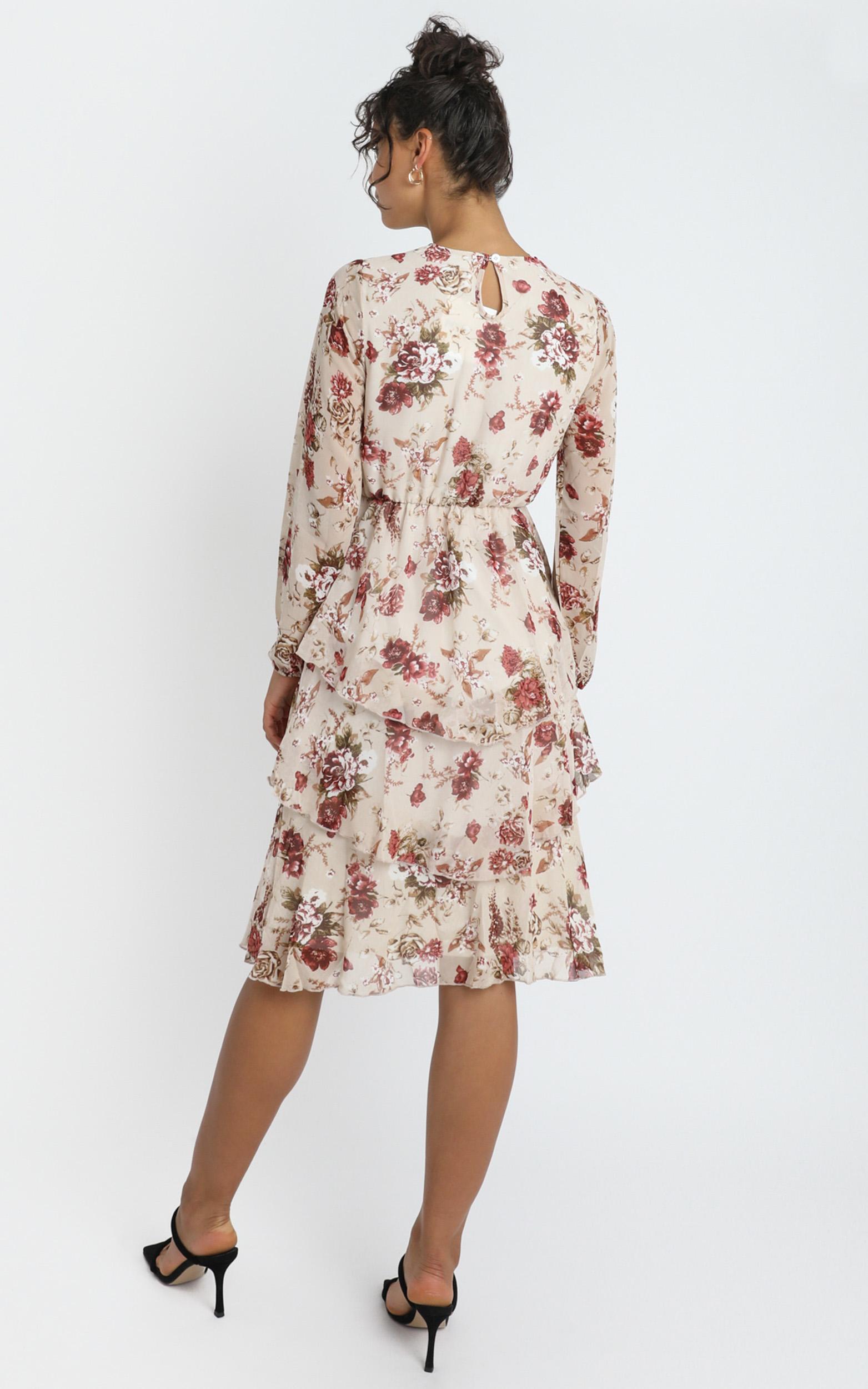 Hollie Dress in Cream Floral - 12 (L), CRE1, hi-res image number null