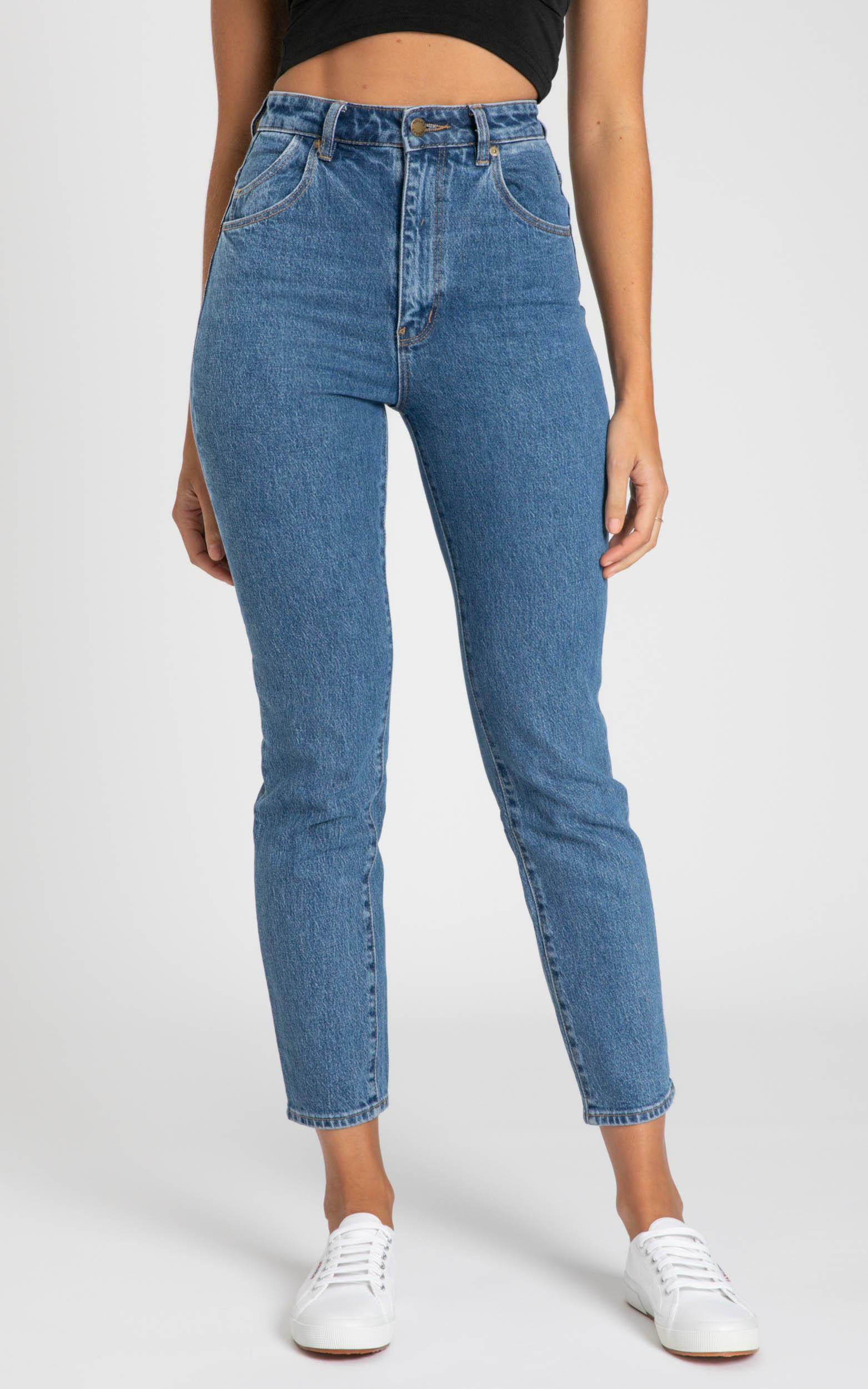 Rollas - Dusters Jeans in sadie blue - 6 (XS), Blue, hi-res image number null