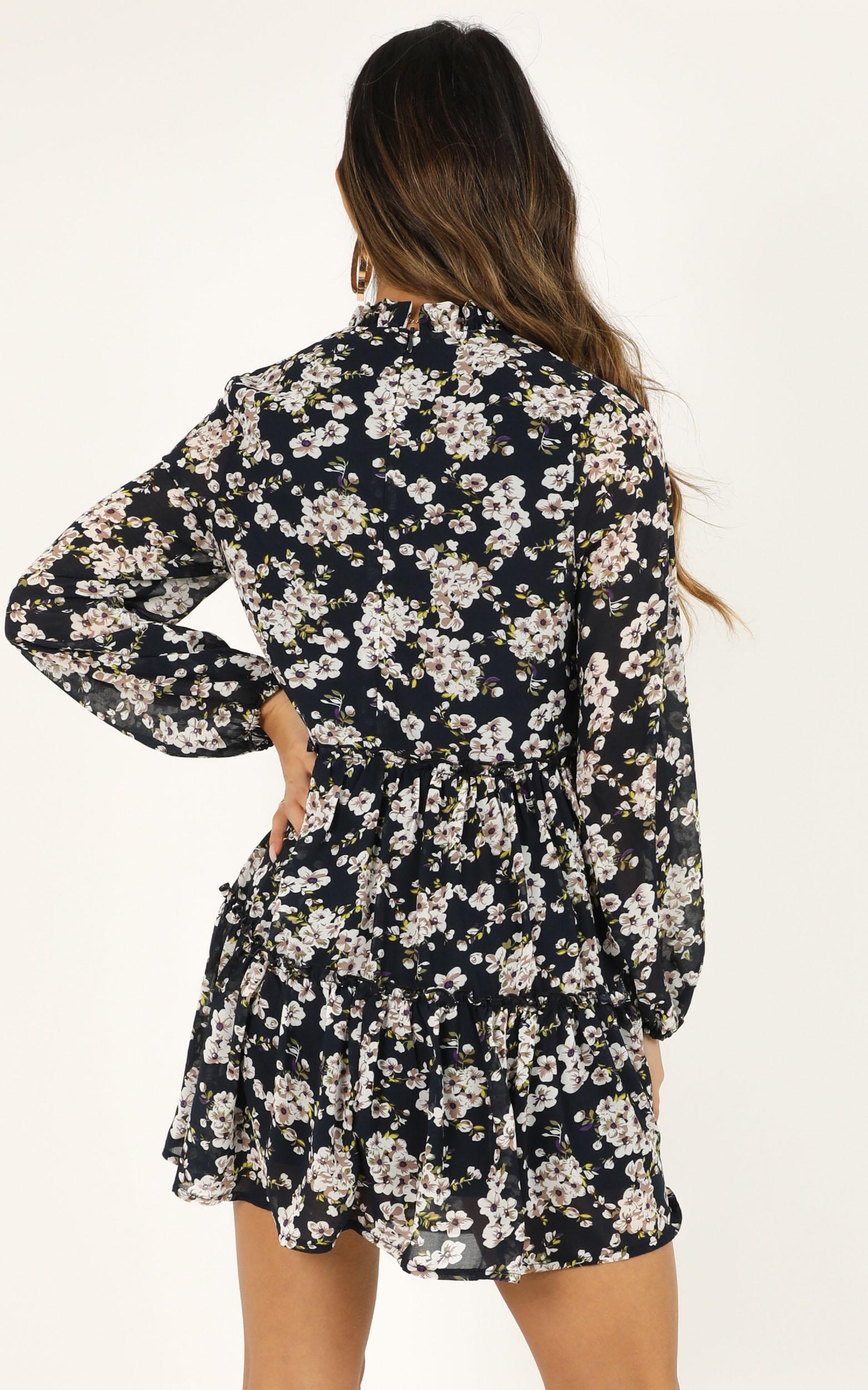 Have Trust Dress in navy floral - 20 (XXXXL), Navy, hi-res image number null