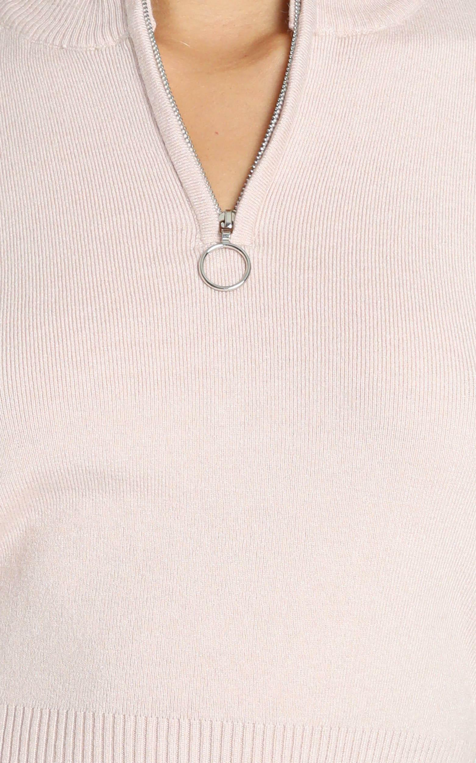Izzy Knit Top in Beige - XS/S, Beige, hi-res image number null