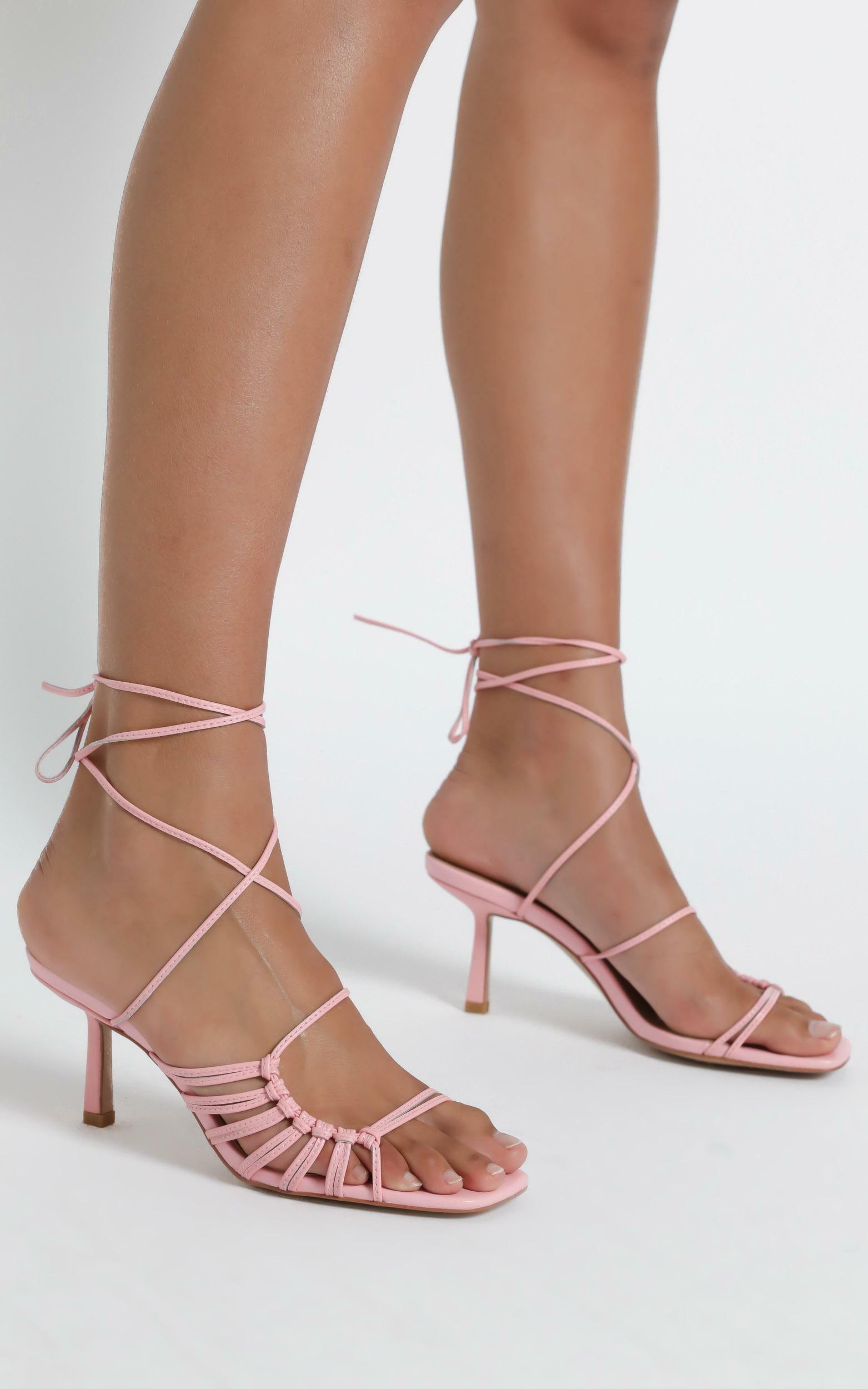 Alias Mae - Lisa Heel in Pink Kid Leather - 5.5, Pink, hi-res image number null
