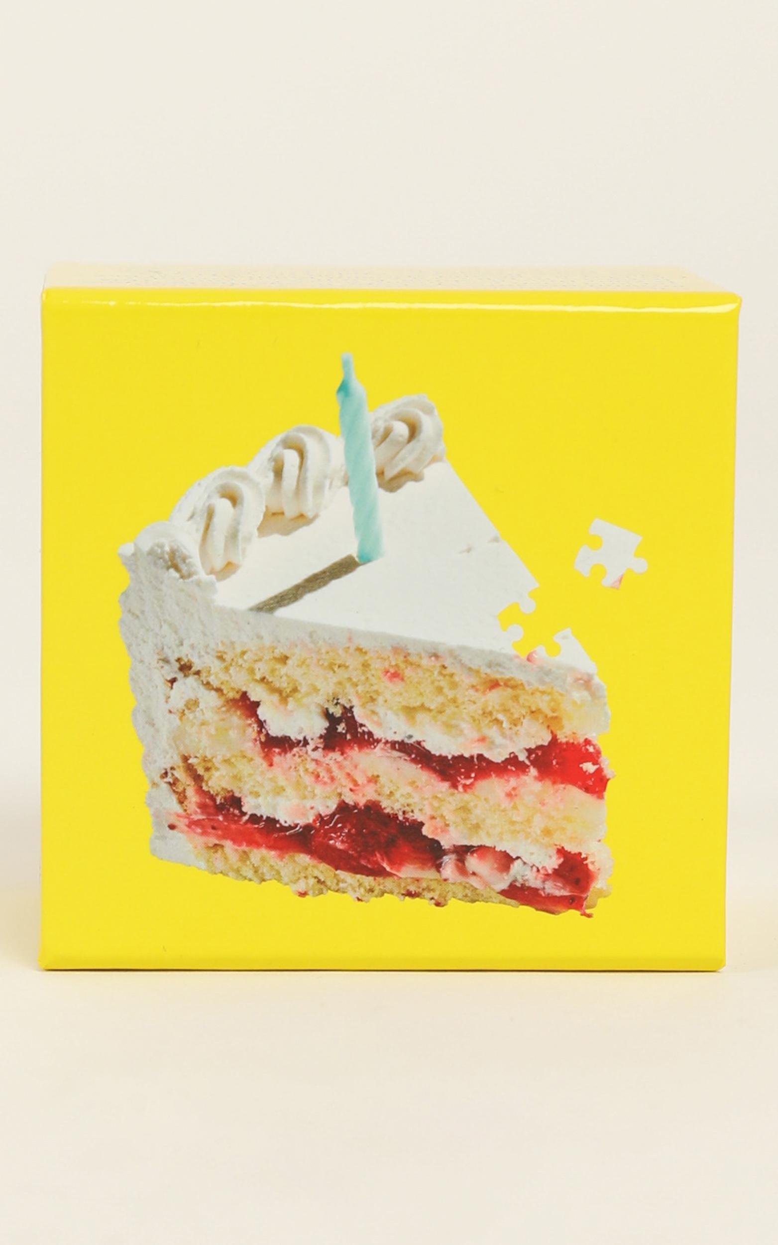 Areaware - Little Puzzle Thing Birthday Cake Jigsaw, Pink, hi-res image number null