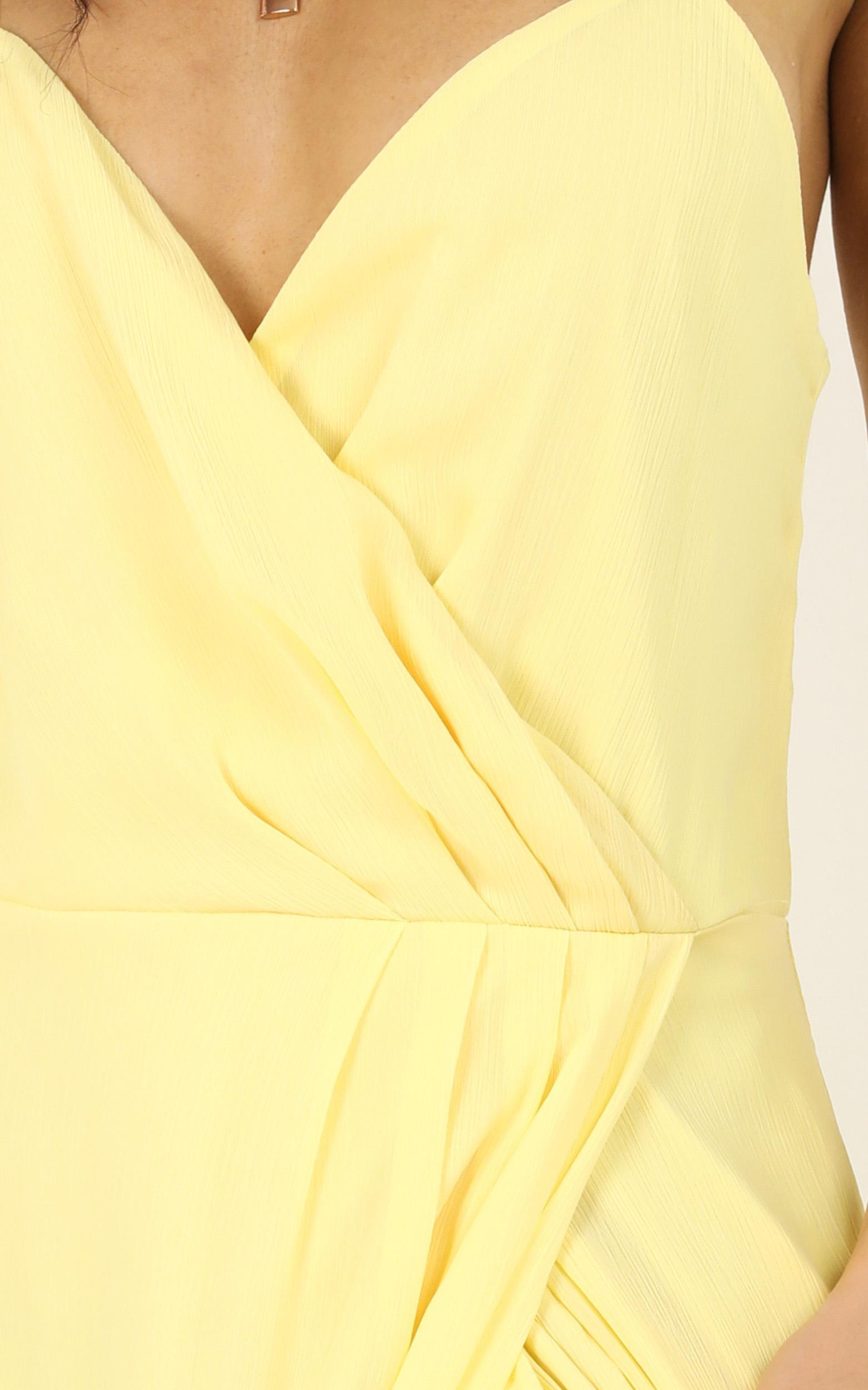 Wrap Your Troubles in Dreams Dress in lemon - 14 (XL), Yellow, hi-res image number null