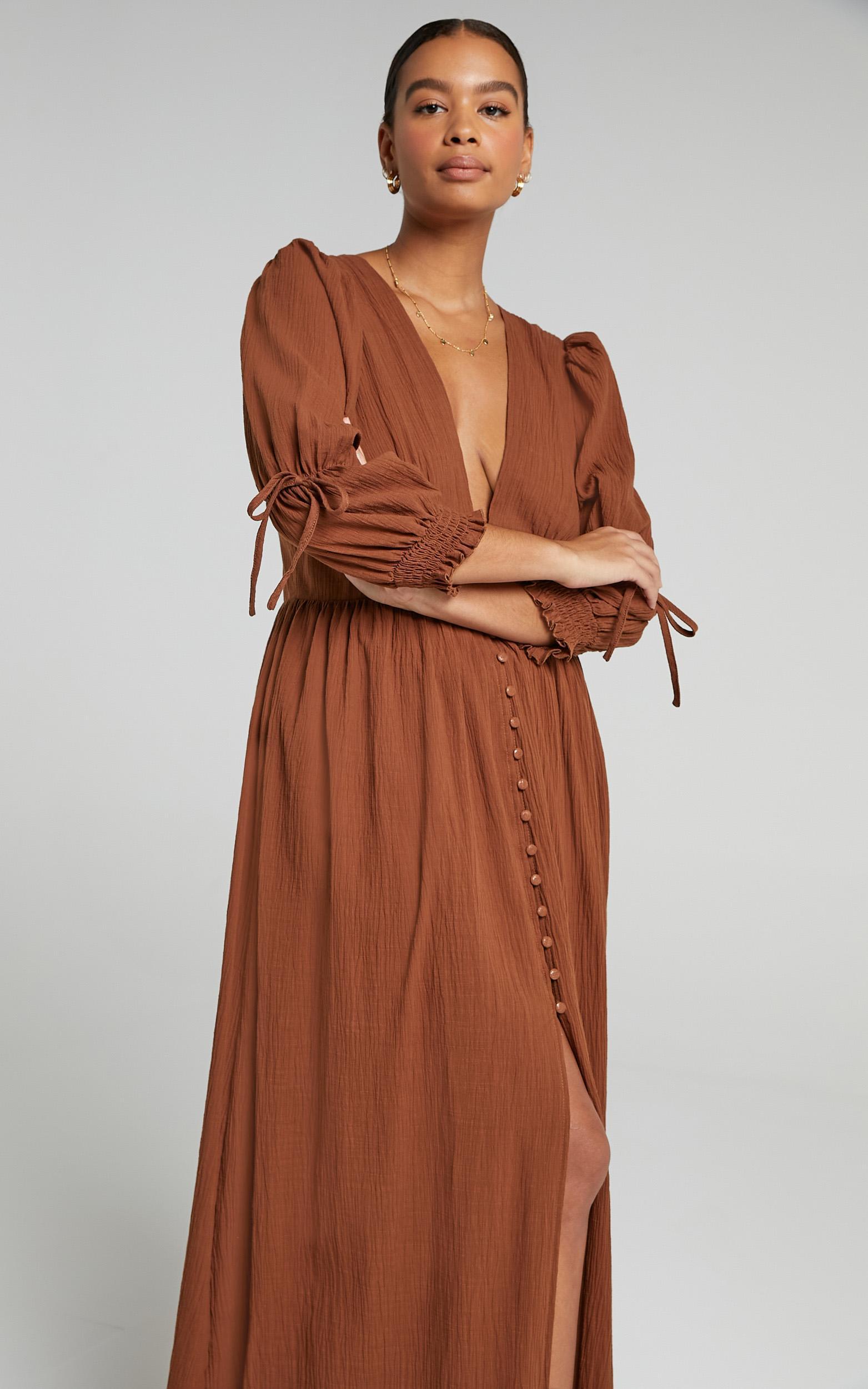 Beorn Dress in Chocolate - 06, BRN1, hi-res image number null