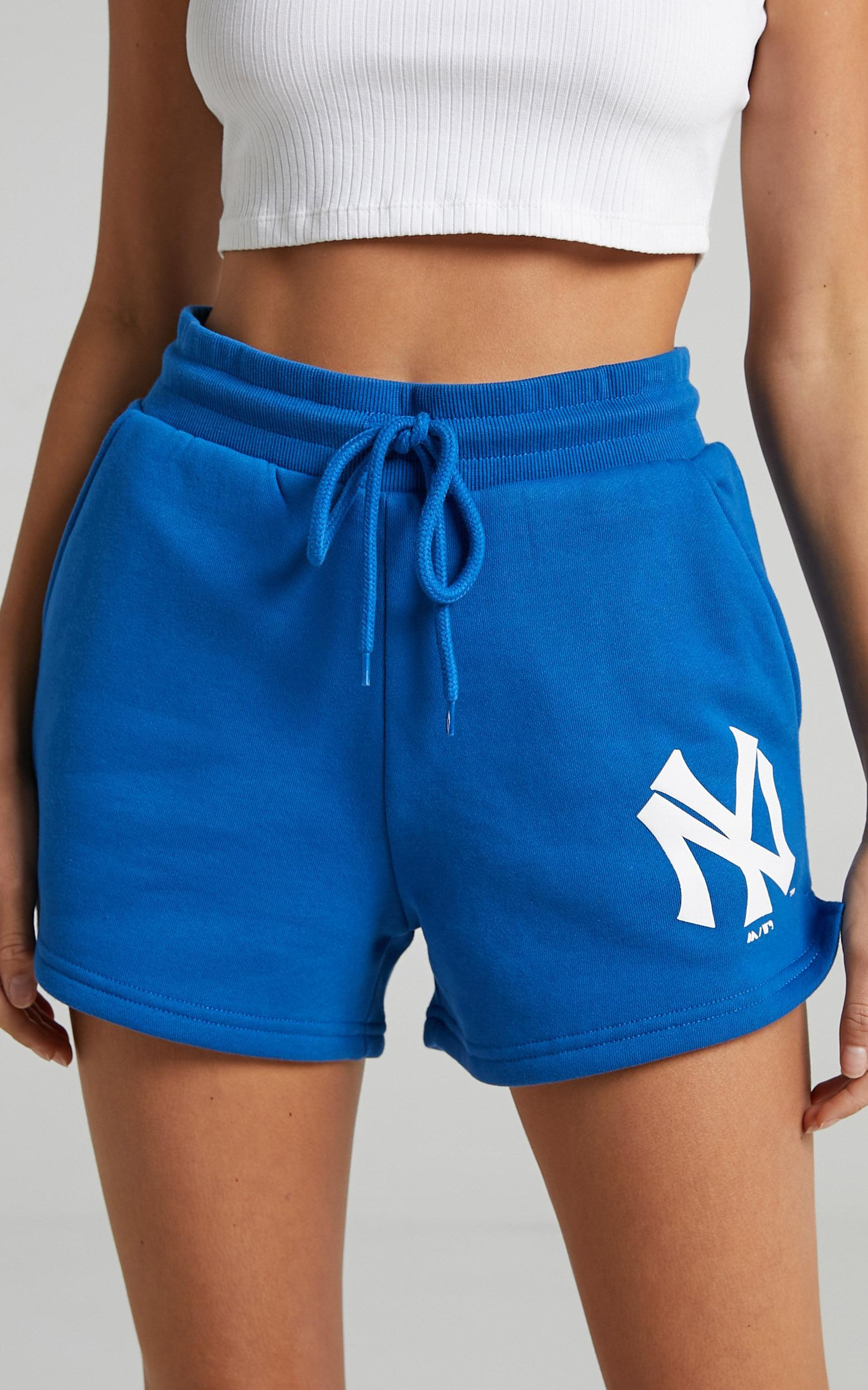 Majestic - Cali NY Yankees Track Shorts in Balenine Blue - XS, BLU1, hi-res image number null