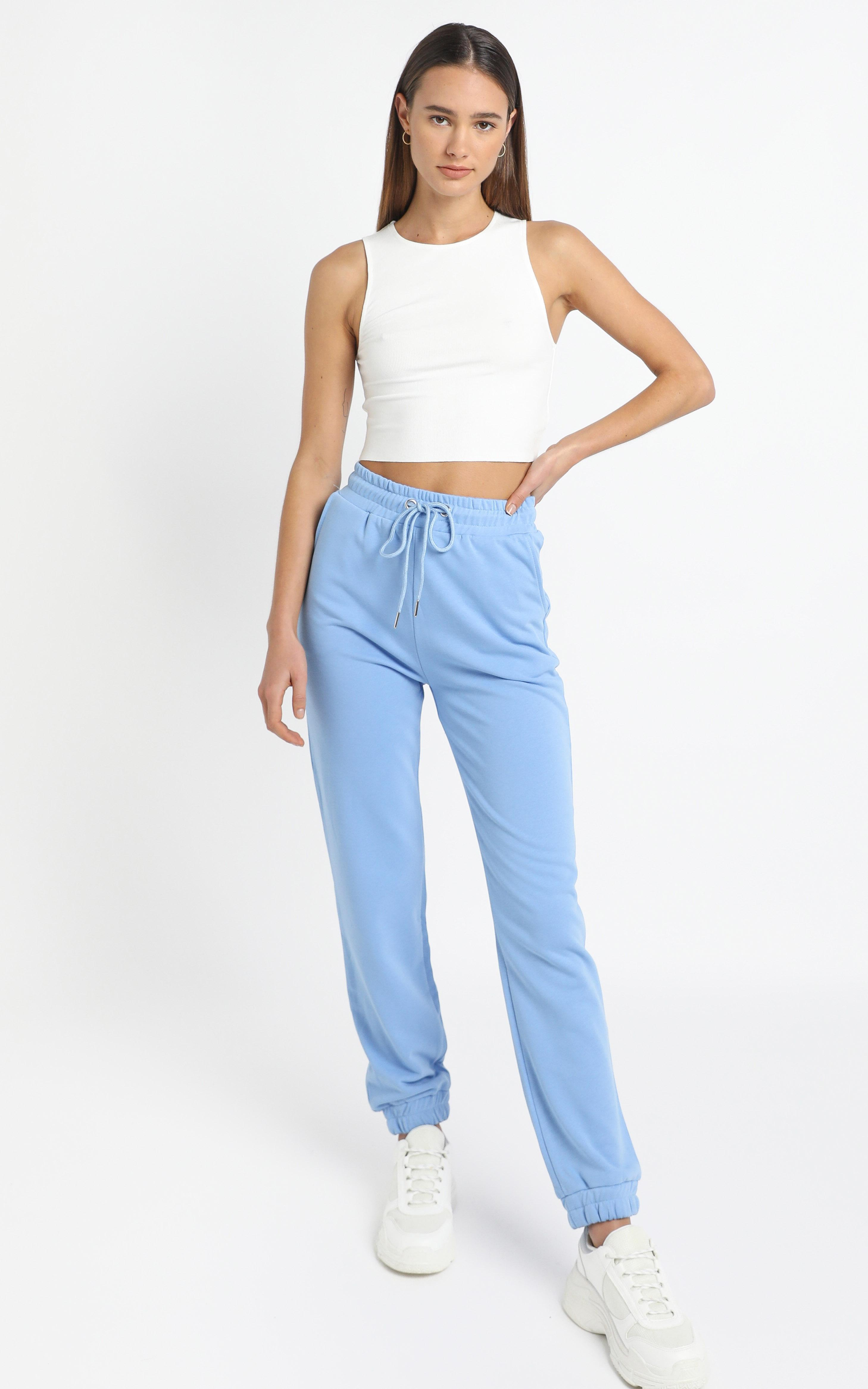 Kelsea Joggers in Baby Blue - 12 (L), Blue, hi-res image number null