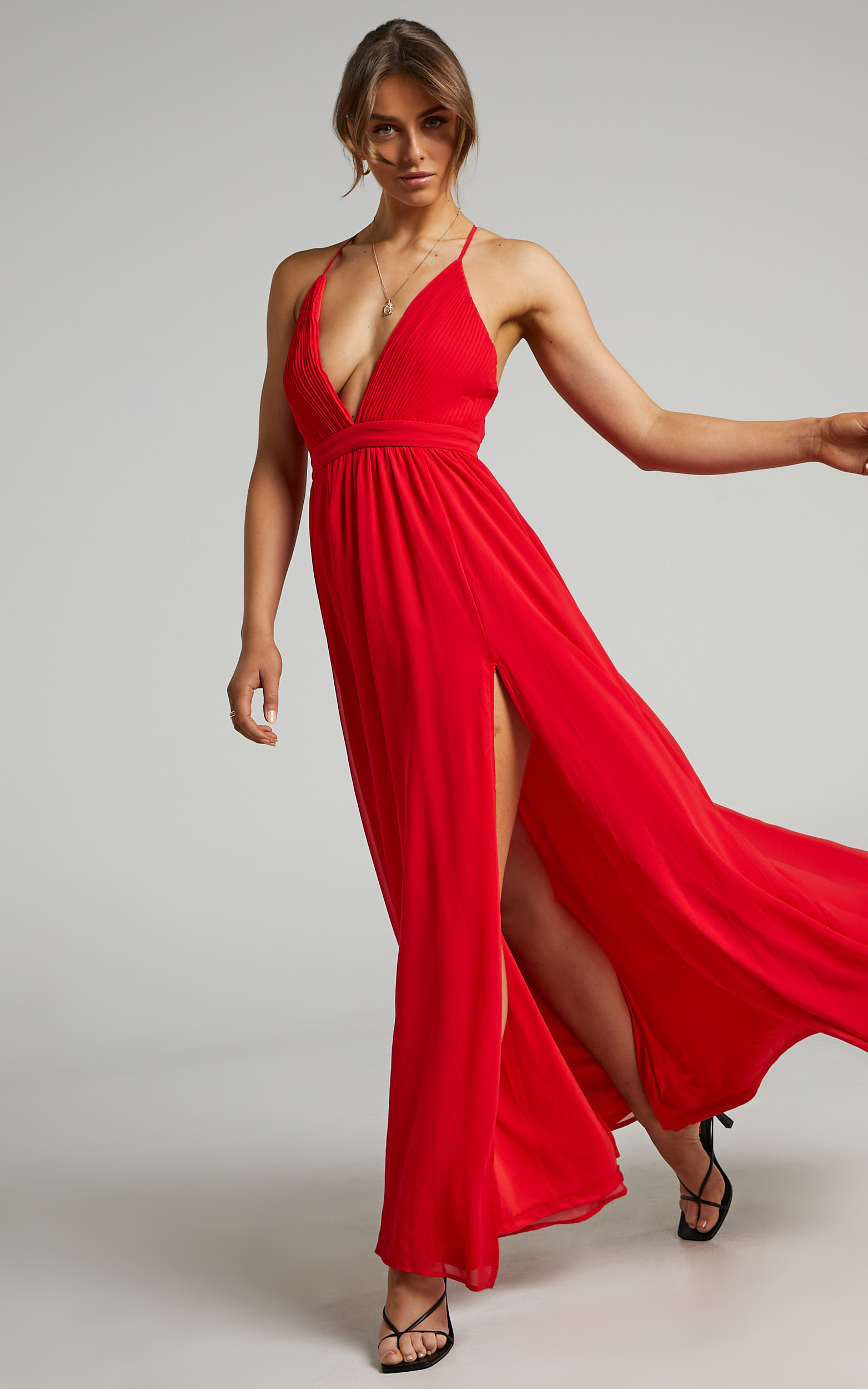 Shes A Delight Maxi Dress in Red - 04, RED4, hi-res image number null