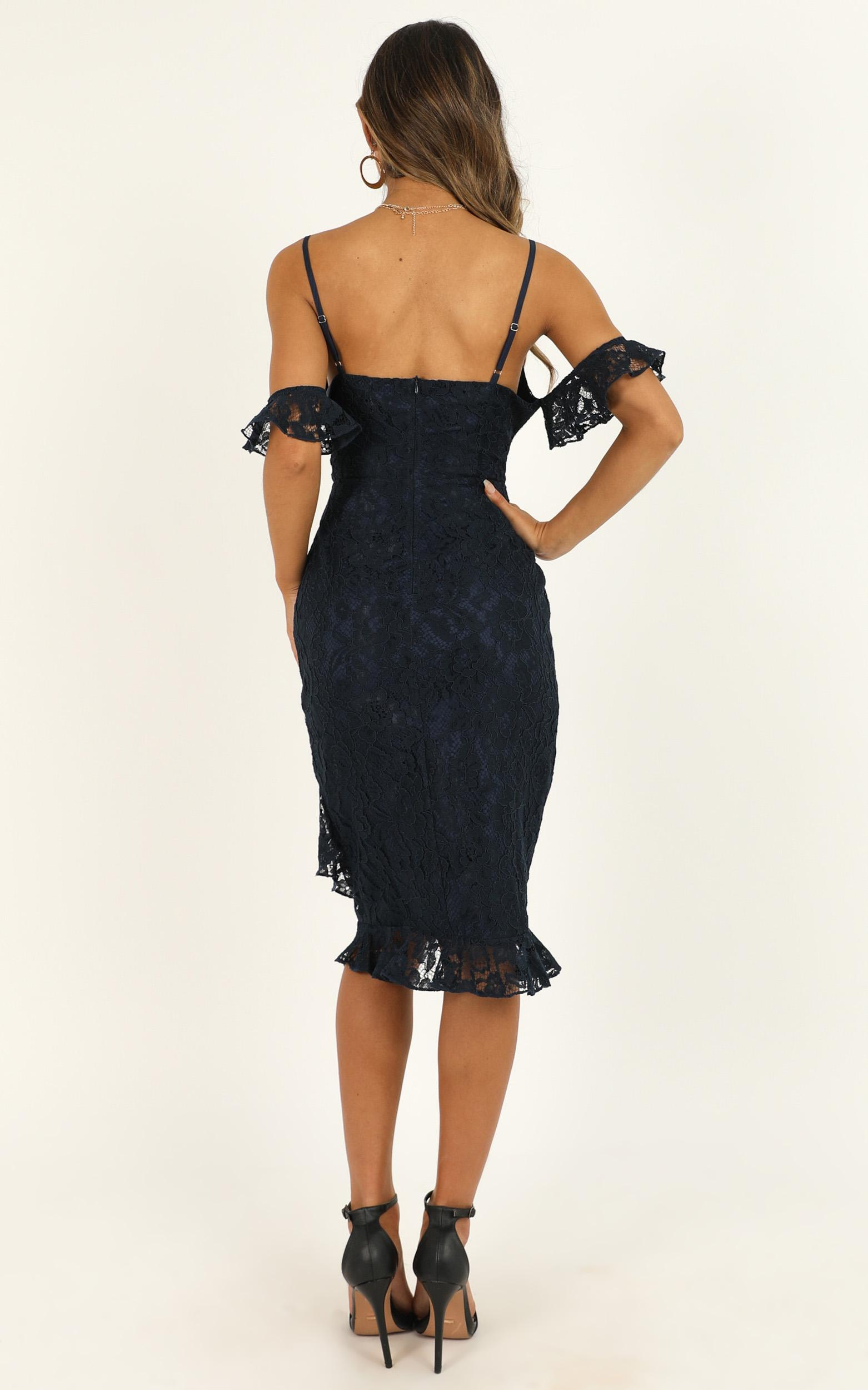 How Could You Forget About Me Dress in navy lace - 20 (XXXXL), Navy, hi-res image number null