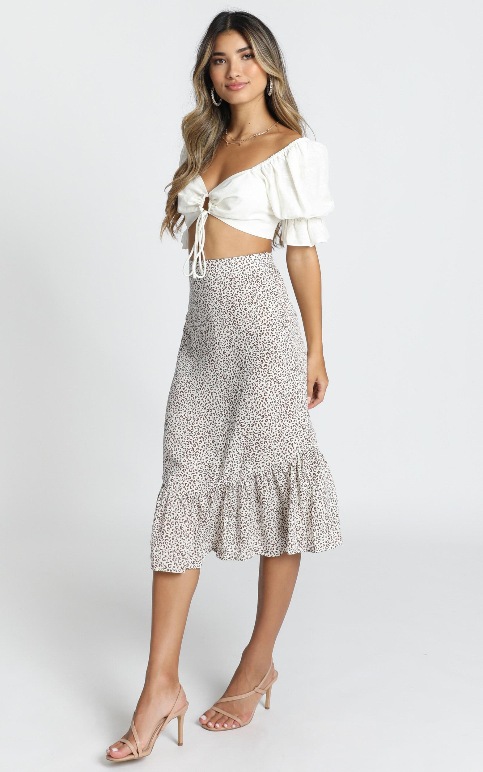 Wild Life Skirt in white leopard - 14 (XL), White, hi-res image number null