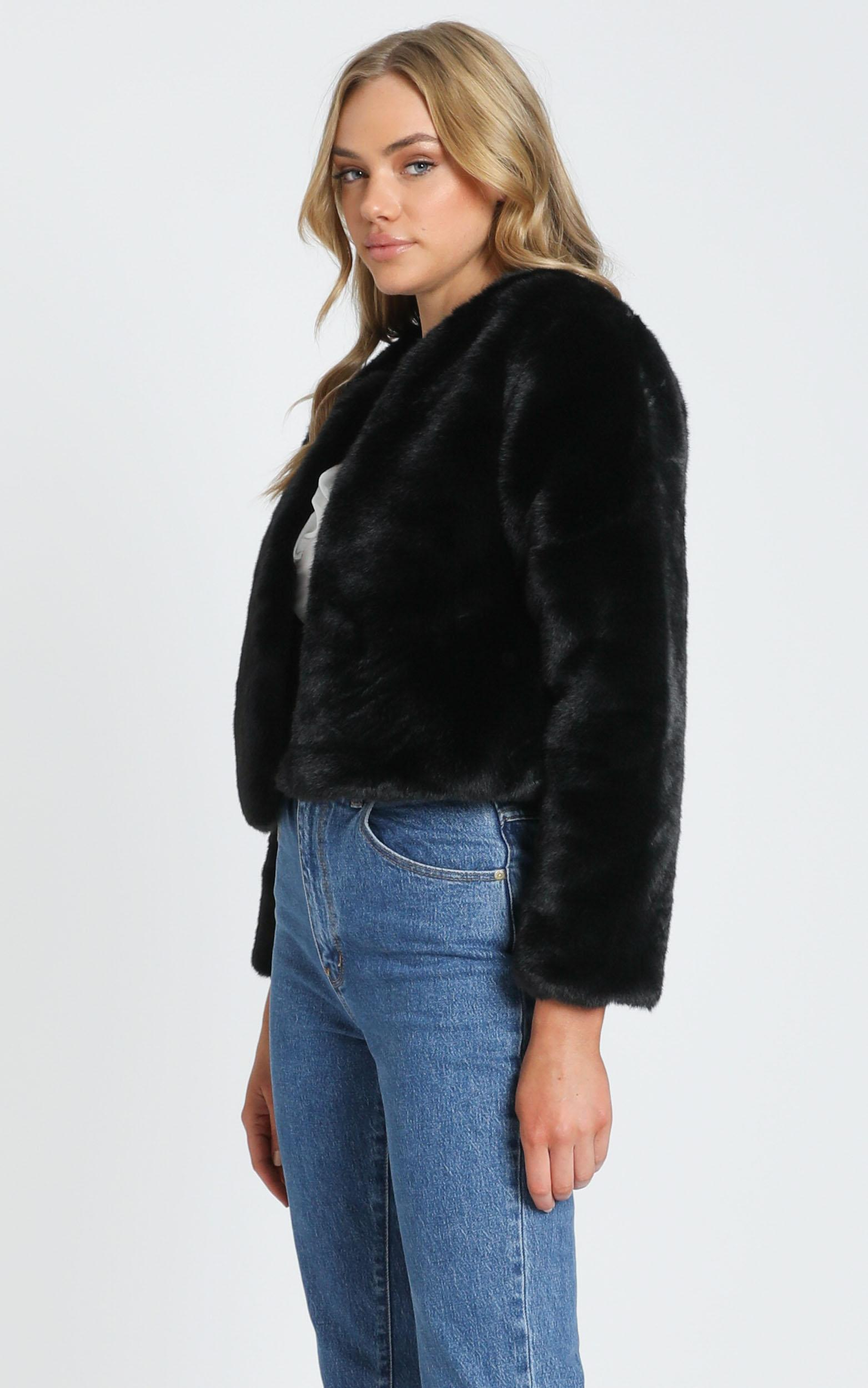 Genevieve Faux Fur Jacket in black - S, Black, hi-res image number null