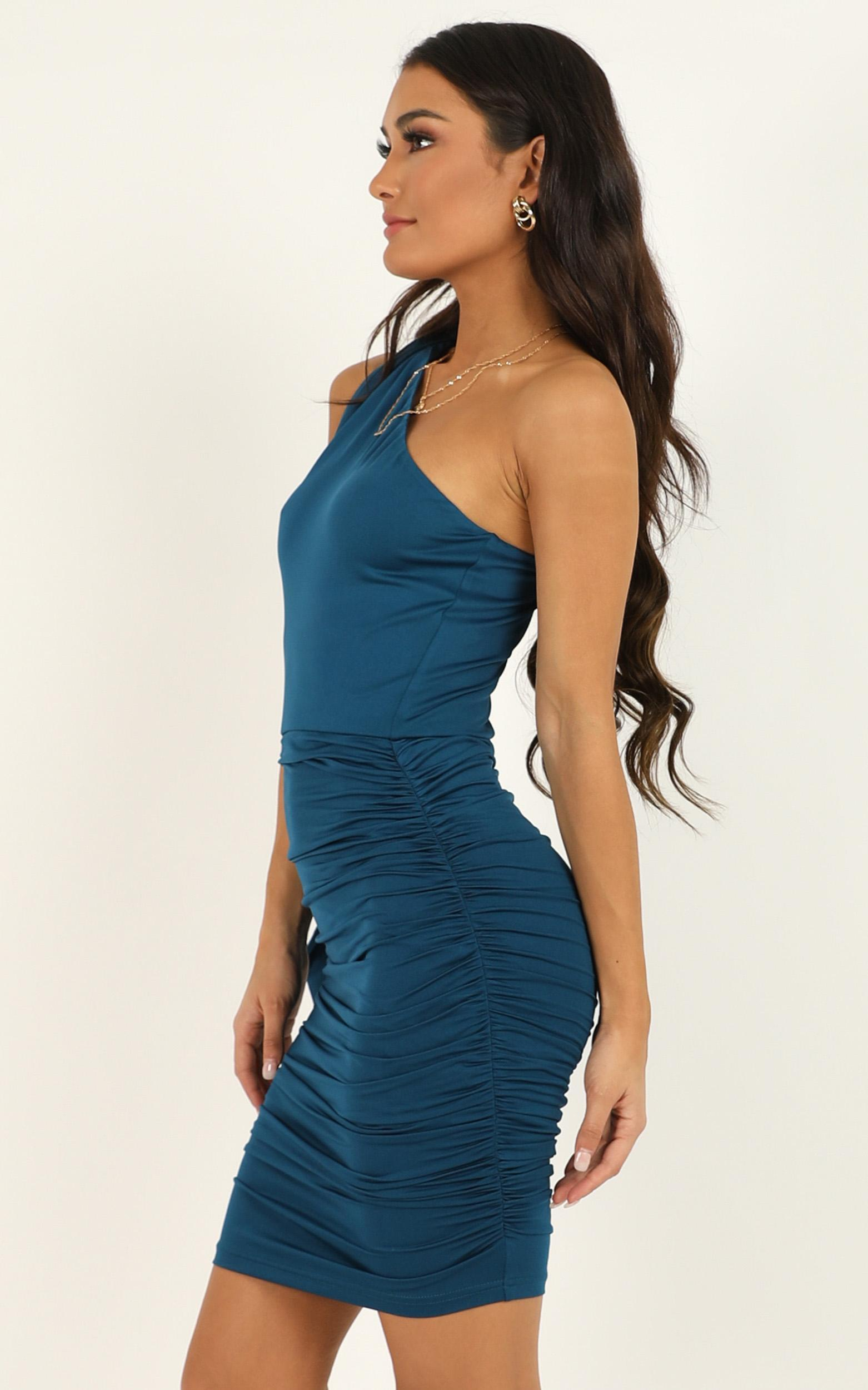 Im a seasoned dame dress in teal - 20 (XXXXL), Blue, hi-res image number null