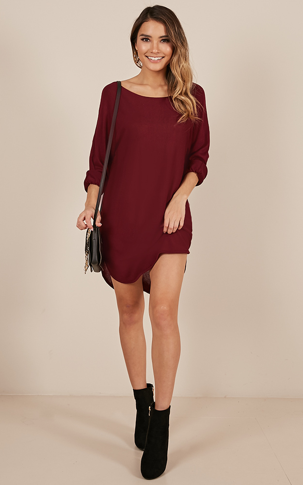 Lazy Girl top in wine-6 (XS), WNE1, hi-res image number null