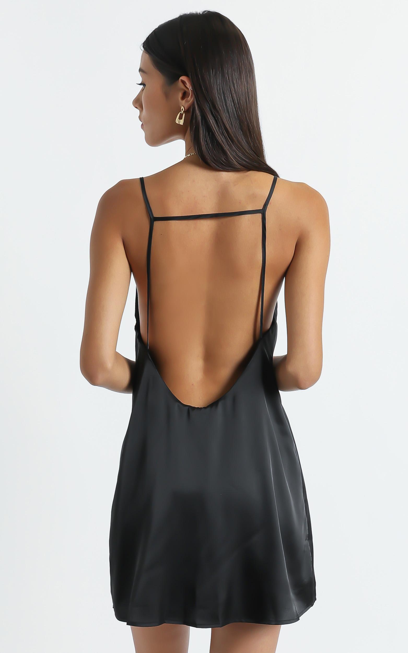 Elif Dress in Black - 6 (XS), Black, hi-res image number null