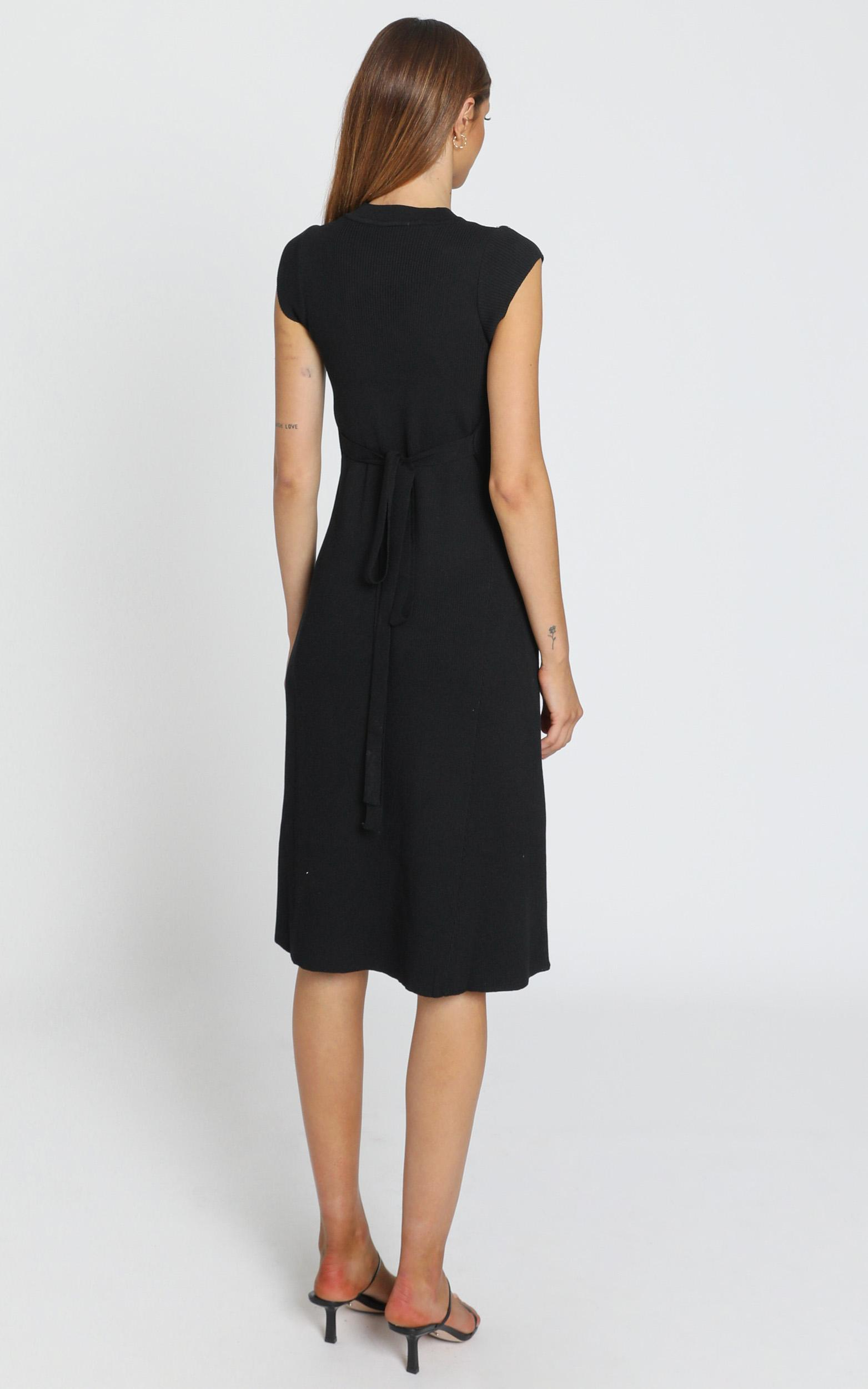 Jane Knitted Rib Dress in black - 6 (XS), Black, hi-res image number null