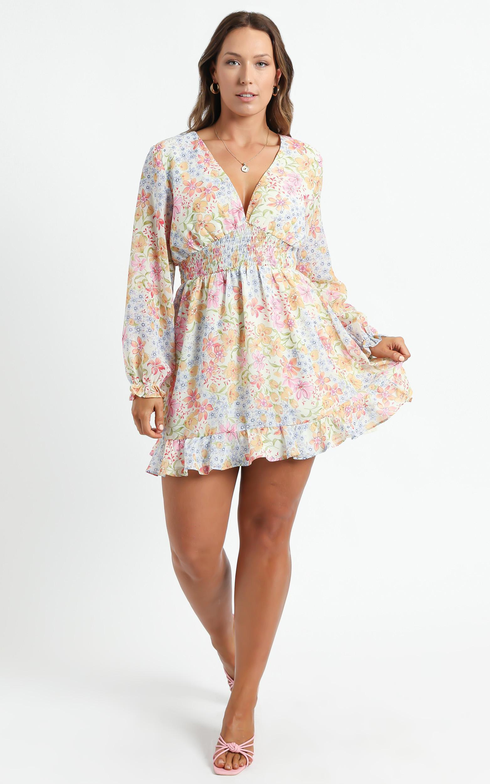 Pretty As You Dress in Multi Floral  - 6 (XS), Multi, hi-res image number null