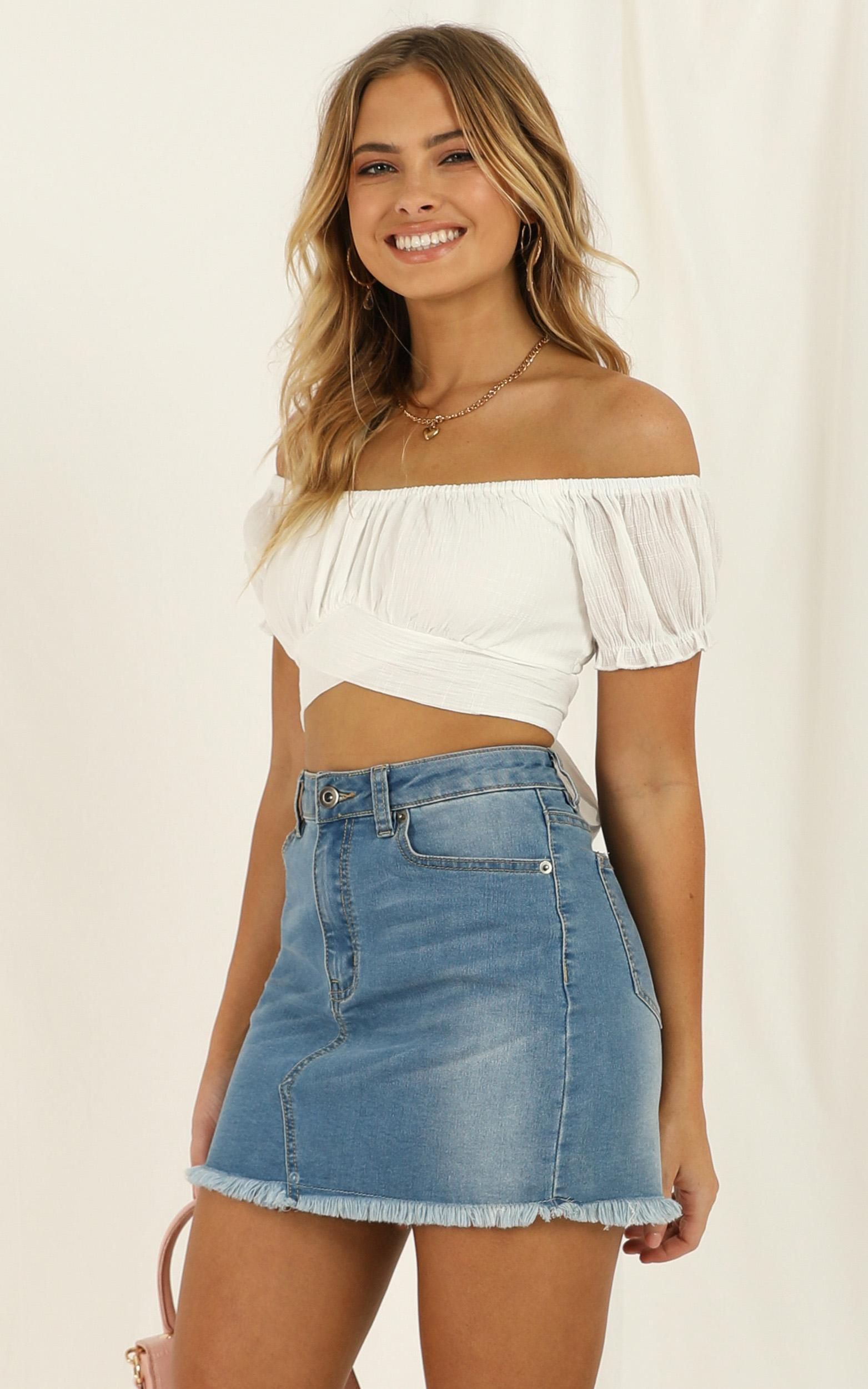 I Know You Top in white linen look - 20 (XXXXL), White, hi-res image number null