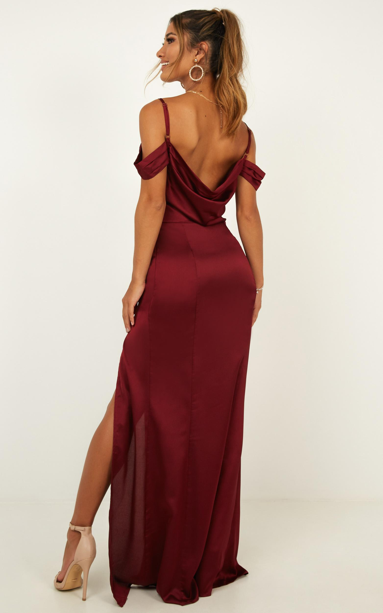 City Is Mine Dress in wine satin - 20 (XXXXL), Wine, hi-res image number null