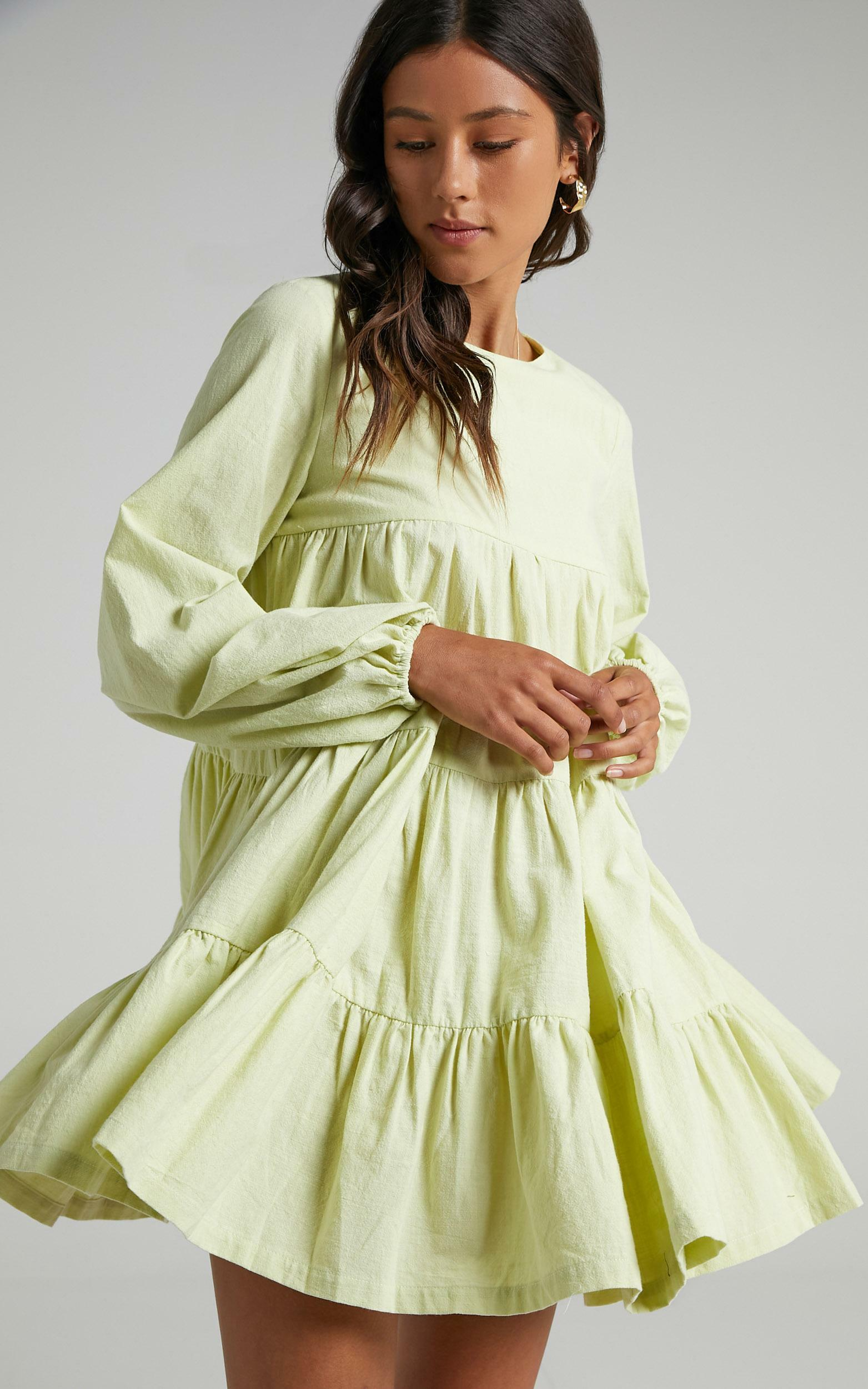 Toulouse Dress in Citrus Green - 06, GRN2, hi-res image number null