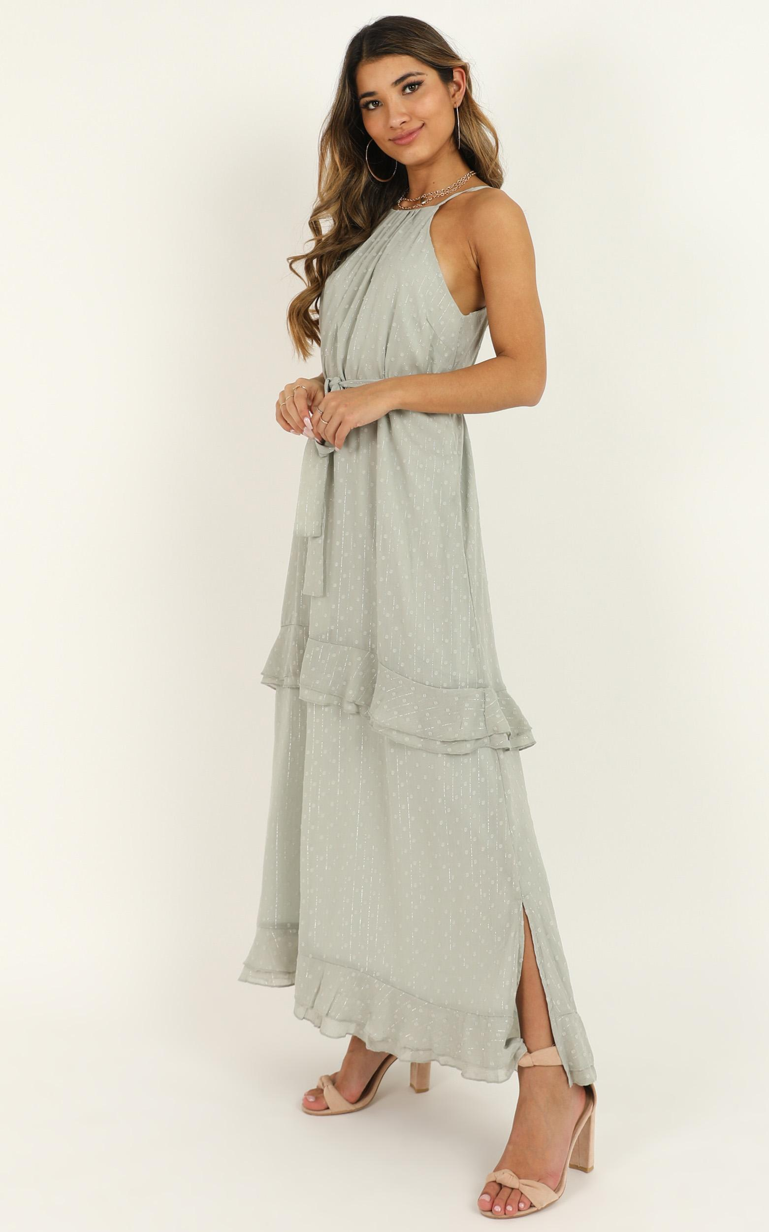 Highest Of Class Dress in sage  - 20 (XXXXL), Sage, hi-res image number null