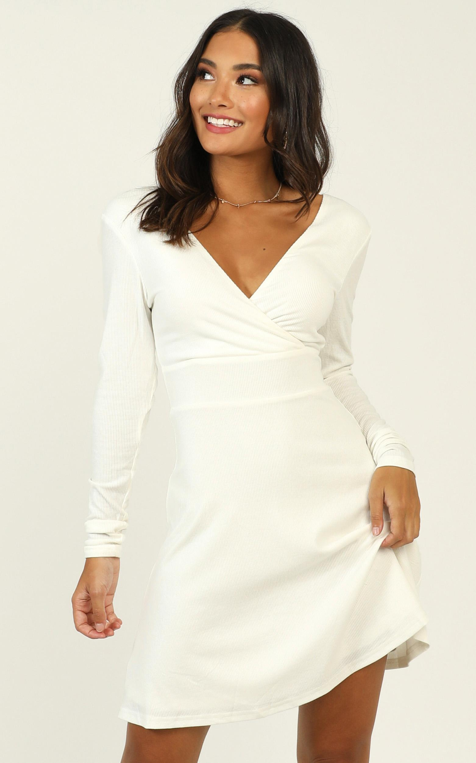 Loving It Right Dress In white- 20 (XXXXL), White, hi-res image number null