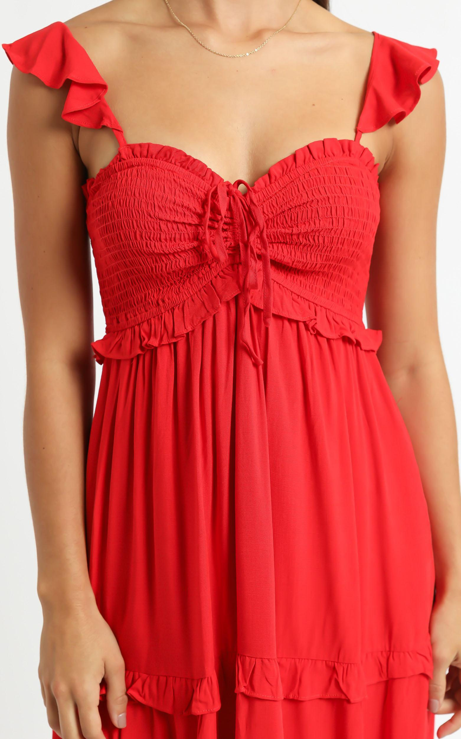 Good For The Soul Dress In Red - 6 (XS), Red, hi-res image number null