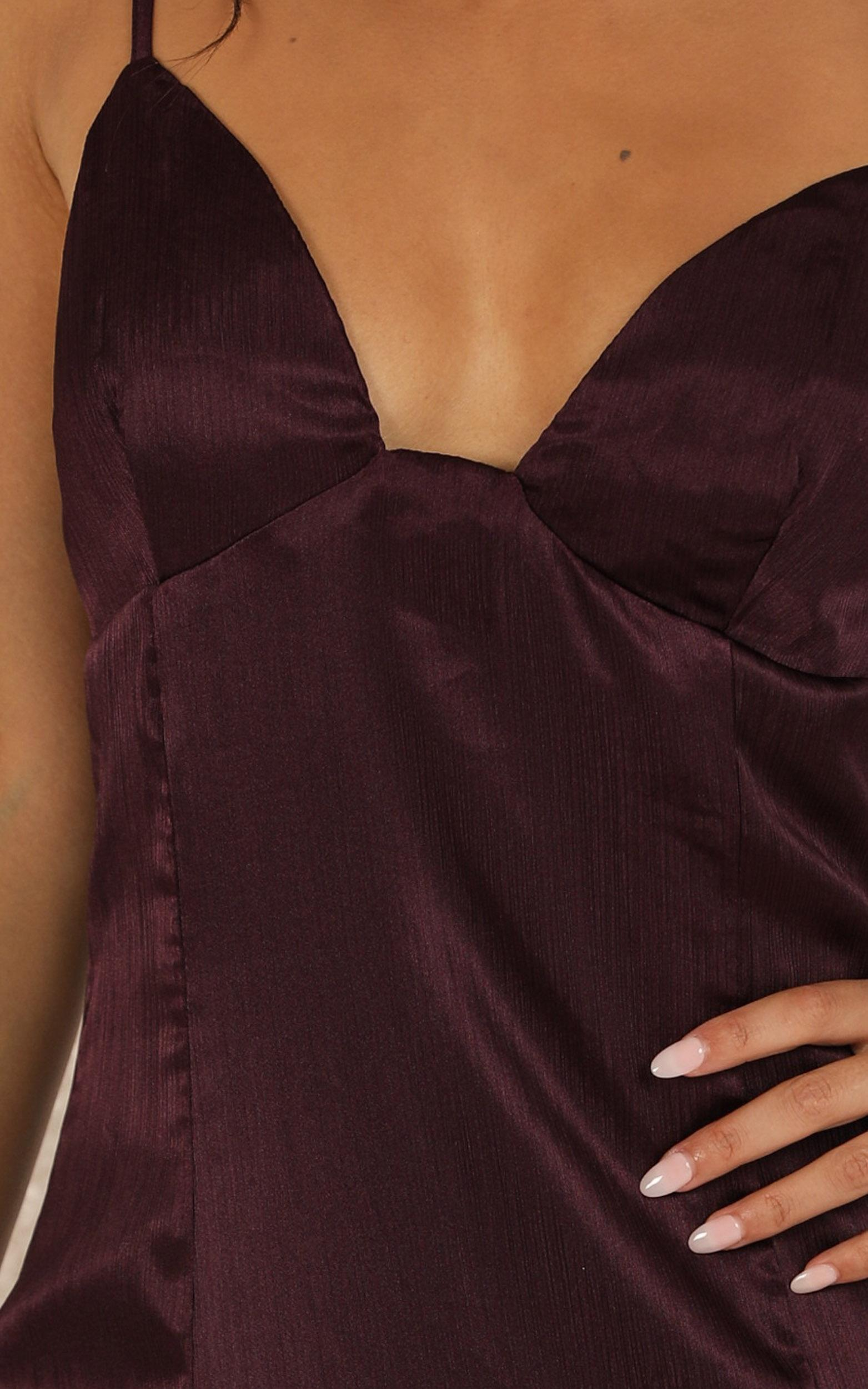 A Touch Of Your Love Dress in aubergine satin - 20 (XXXXL), PRP4, hi-res image number null