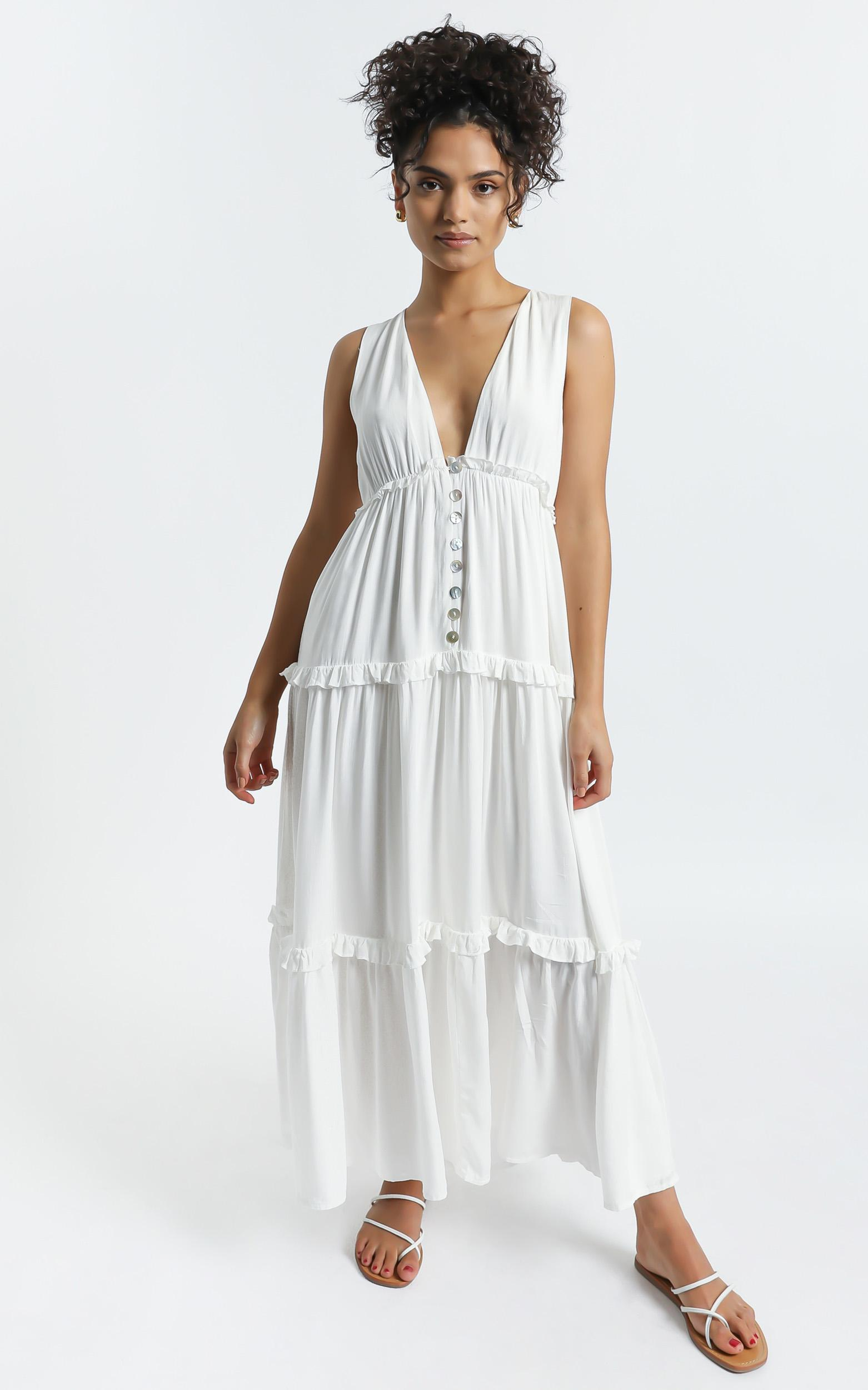 Arlana Dress in White - 6 (XS), White, hi-res image number null