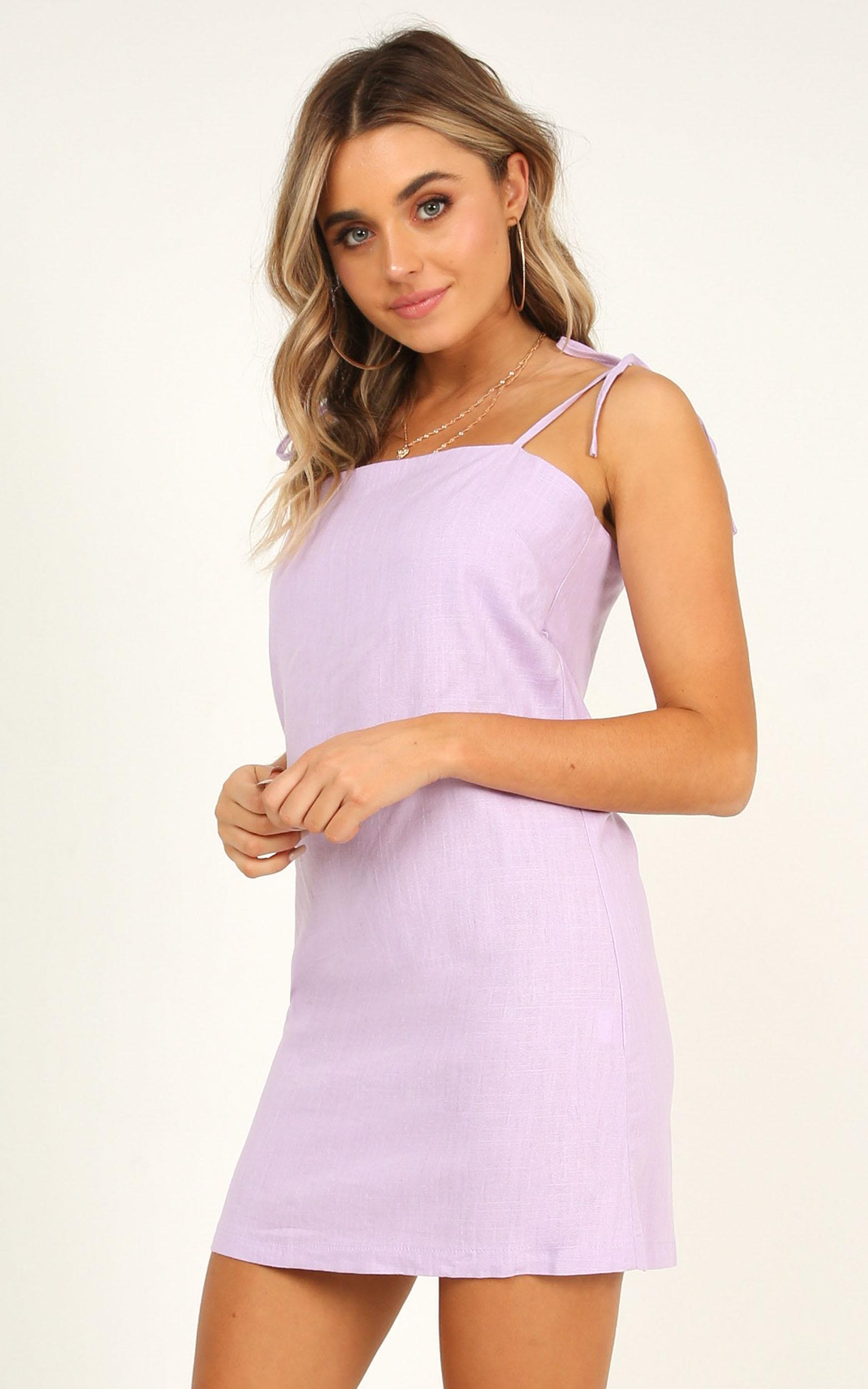 Say It Aint So Dress In lilac linen look - 20 (XXXXL), Purple, hi-res image number null