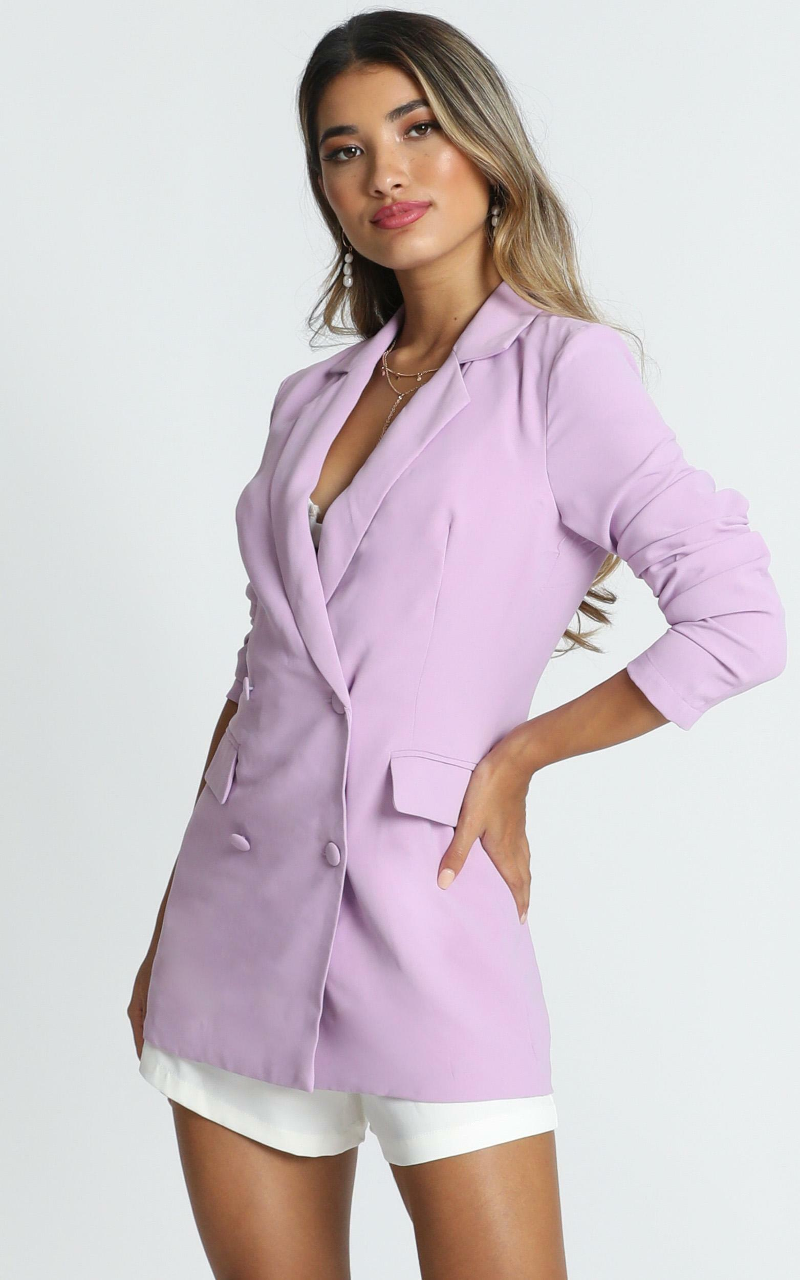 Quick To Win Blazer in lilac - 20 (XXXXL), Purple, hi-res image number null