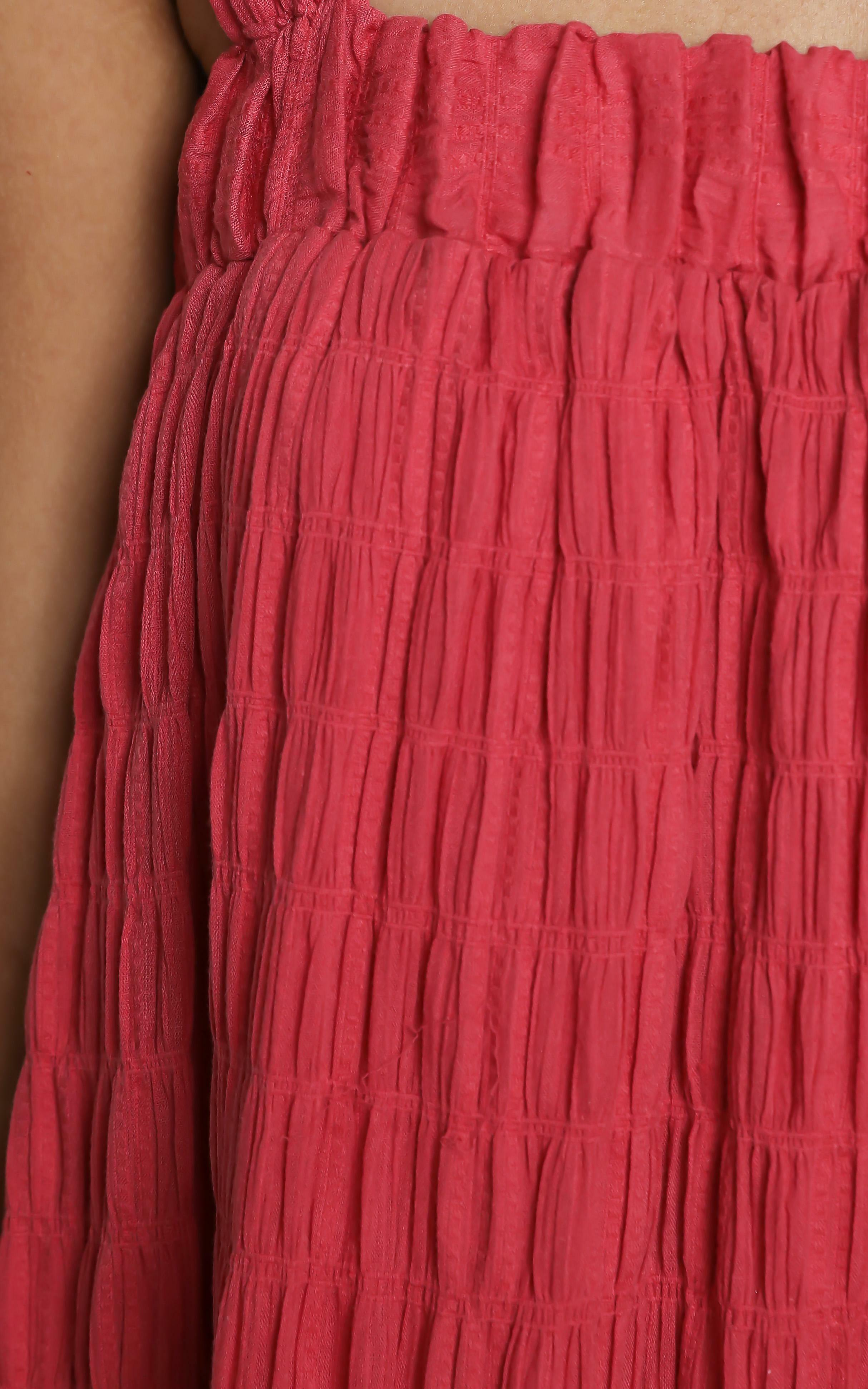 Amaryllis Dress in Watermelon - 14 (XL), Pink, hi-res image number null