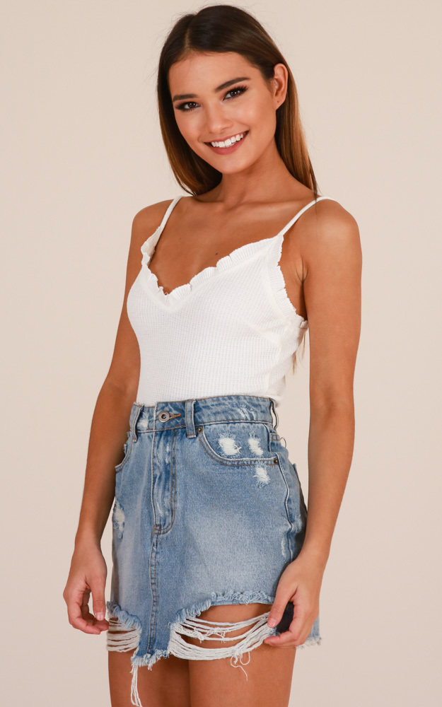 Insecure top in white - 12 (L), White, hi-res image number null