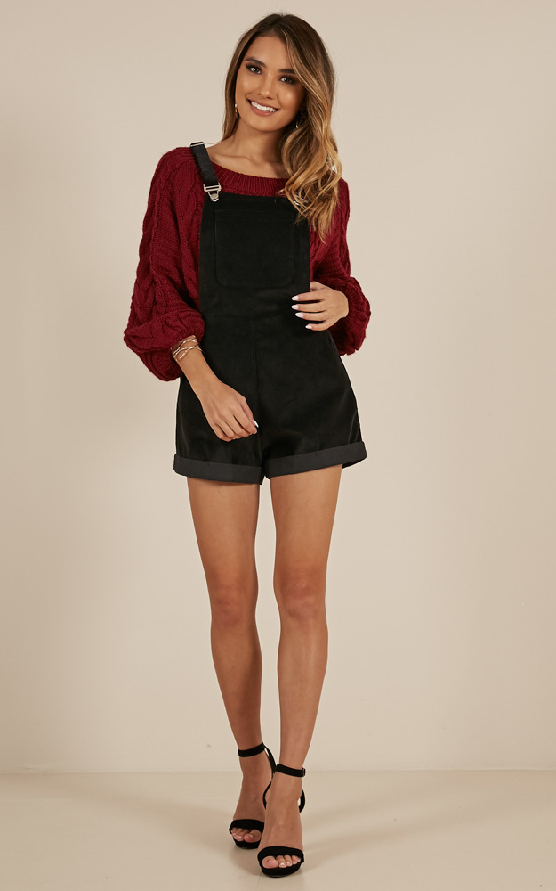 Just A Fling overall in Black - 14 (XL), Black, hi-res image number null