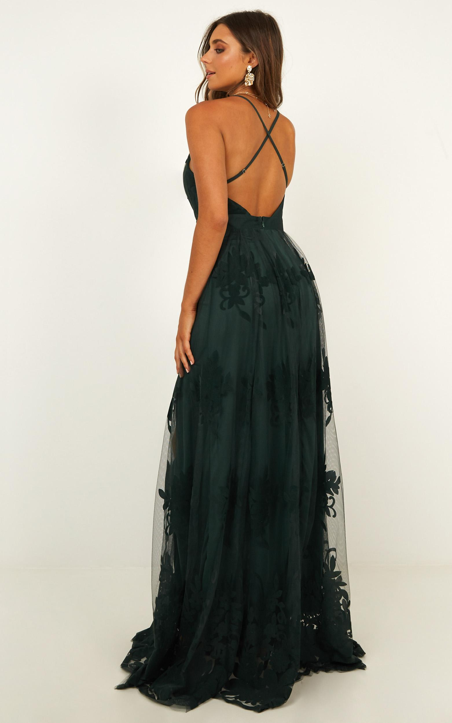 Promenade Maxi Dress In Emerald - 16 (XXL), Green, hi-res image number null