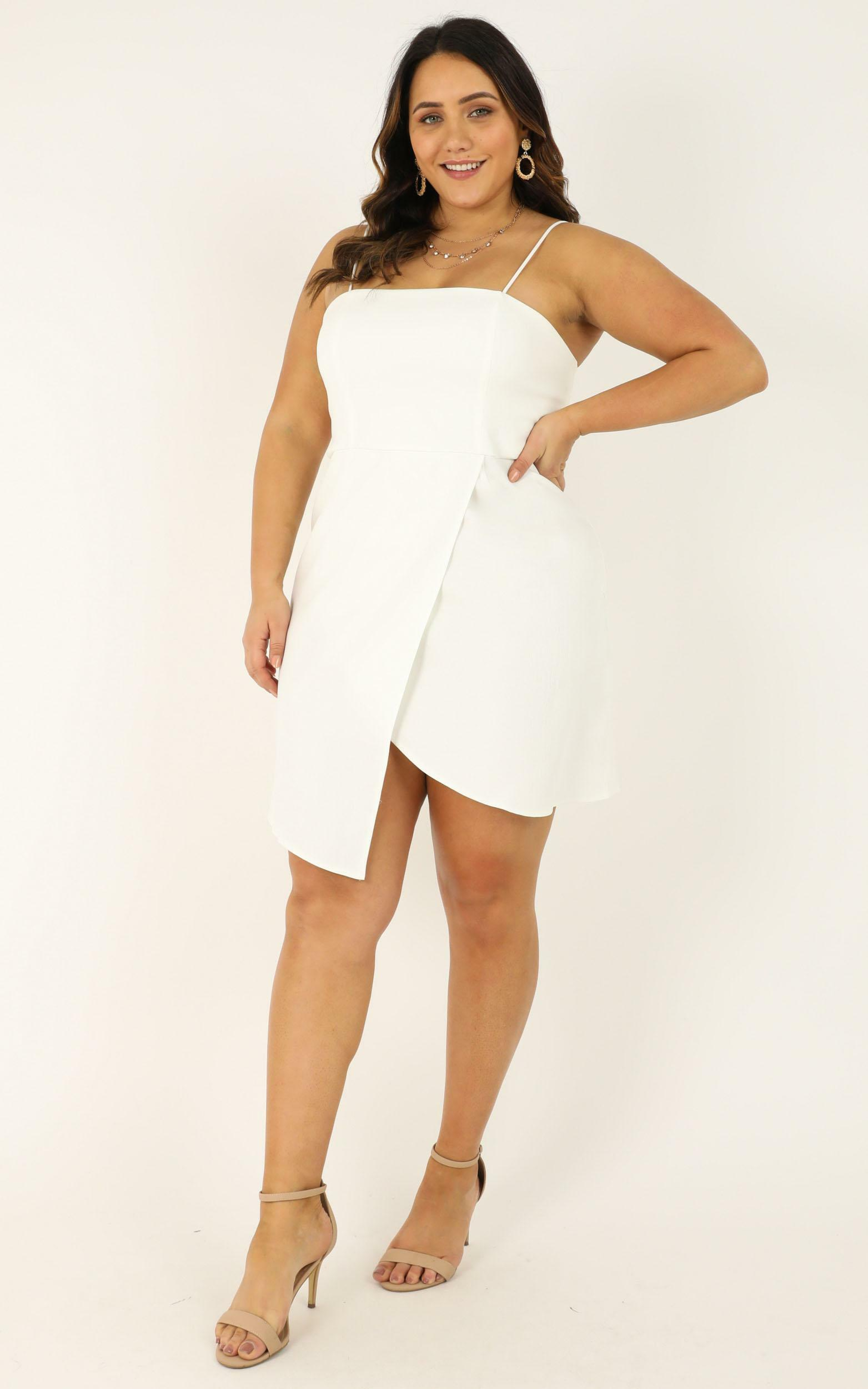 Waiting For A Miracle Dress in white - 20 (XXXXL), White, hi-res image number null