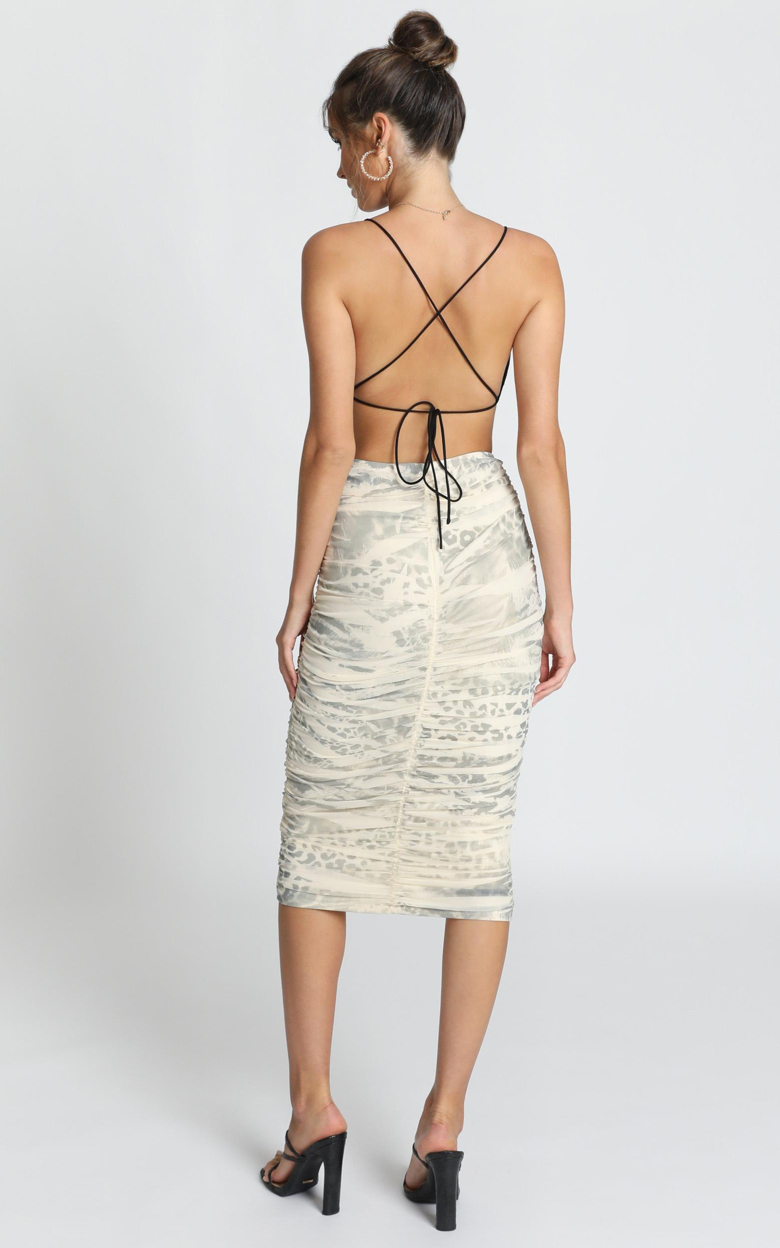 Fallout skirt in leopard print - 12 (L), Grey, hi-res image number null