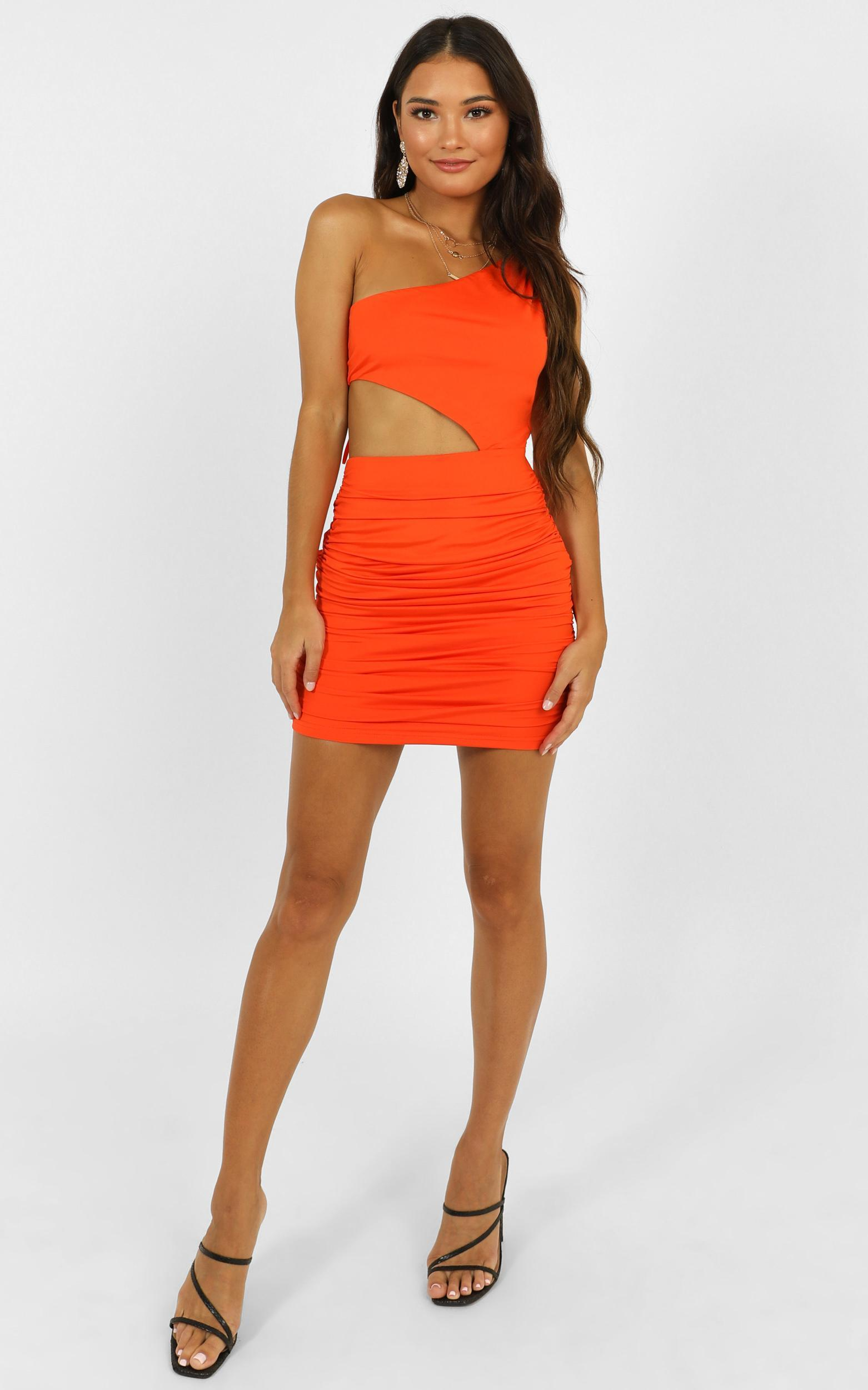 I Knew From The First Time Dress in tangerine - 6 (XS), Orange, hi-res image number null