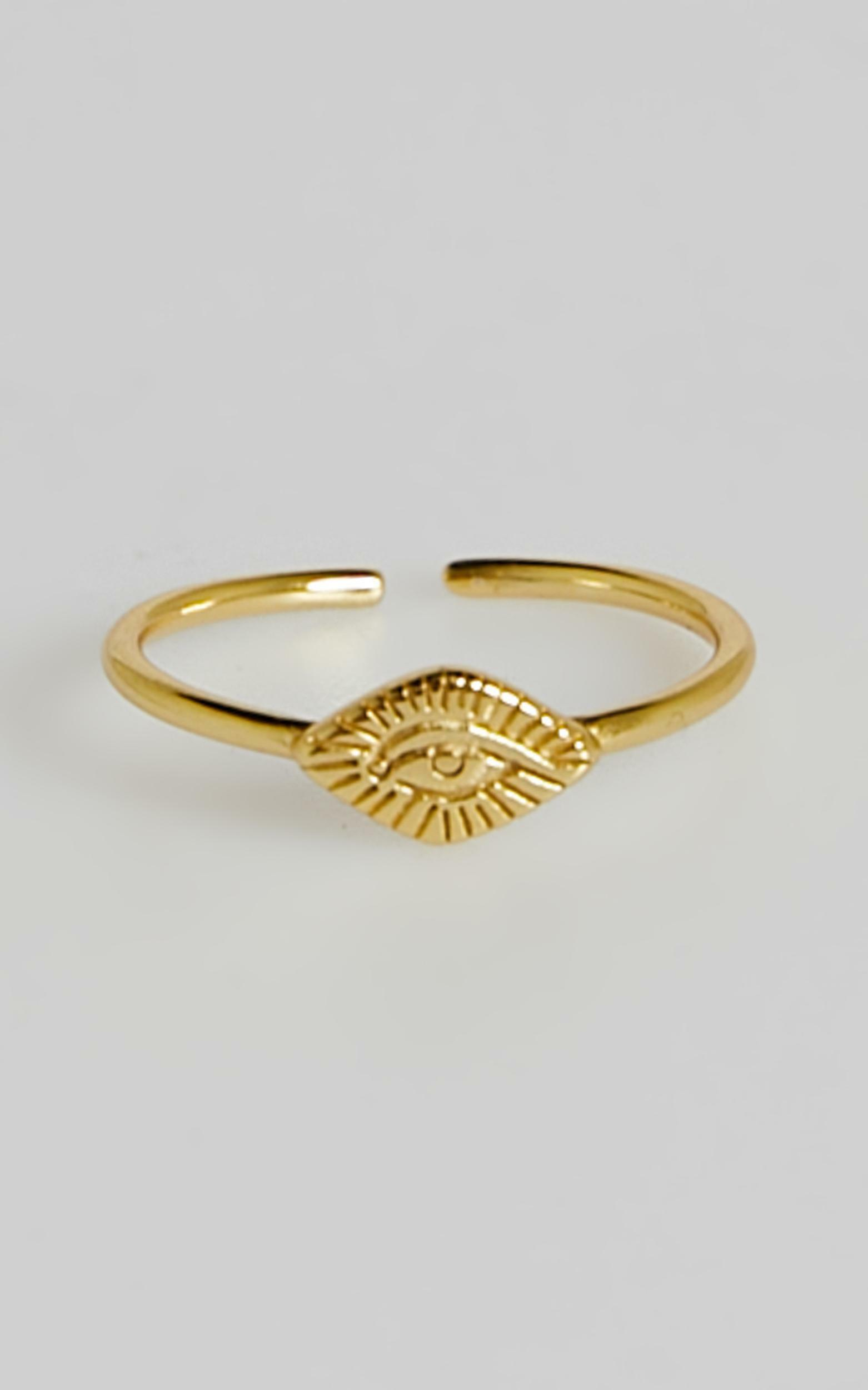 Izoa - Egyptian Eye Ring in Gold, GLD1, hi-res image number null