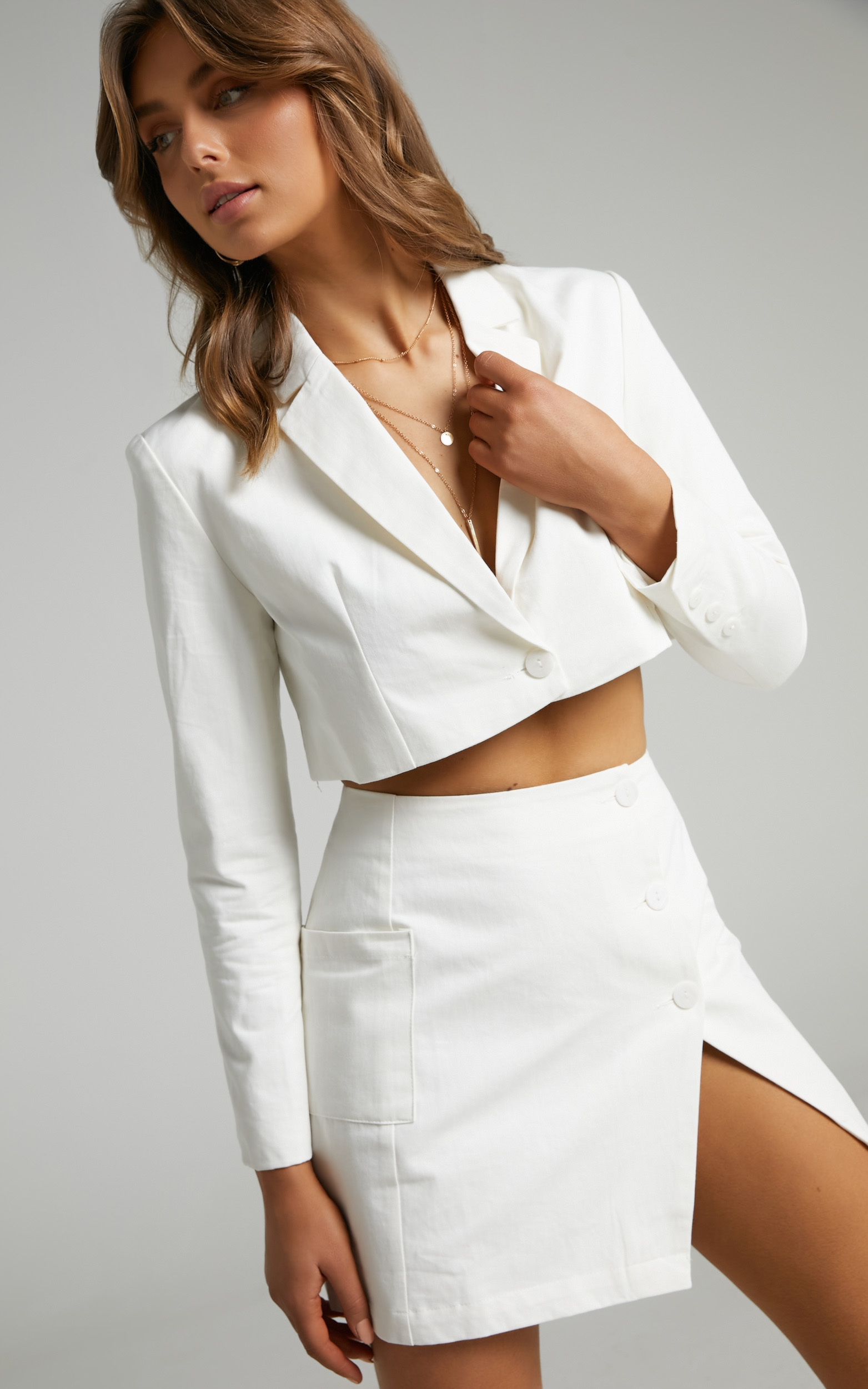 Runaway The Label - Toni Mini Skirt in White - L, WHT1, hi-res image number null