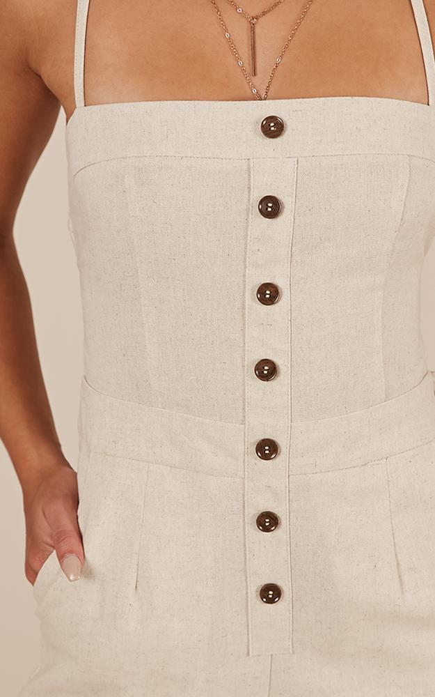 Make Me Yours Jumpsuit in natural linen look - 20 (XXXXL), Beige, hi-res image number null