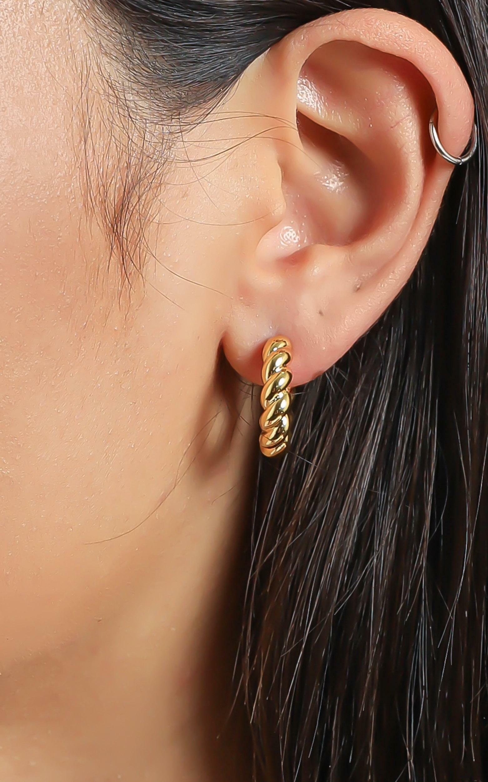Reliquia - Fern Earrings in Gold, Gold, hi-res image number null