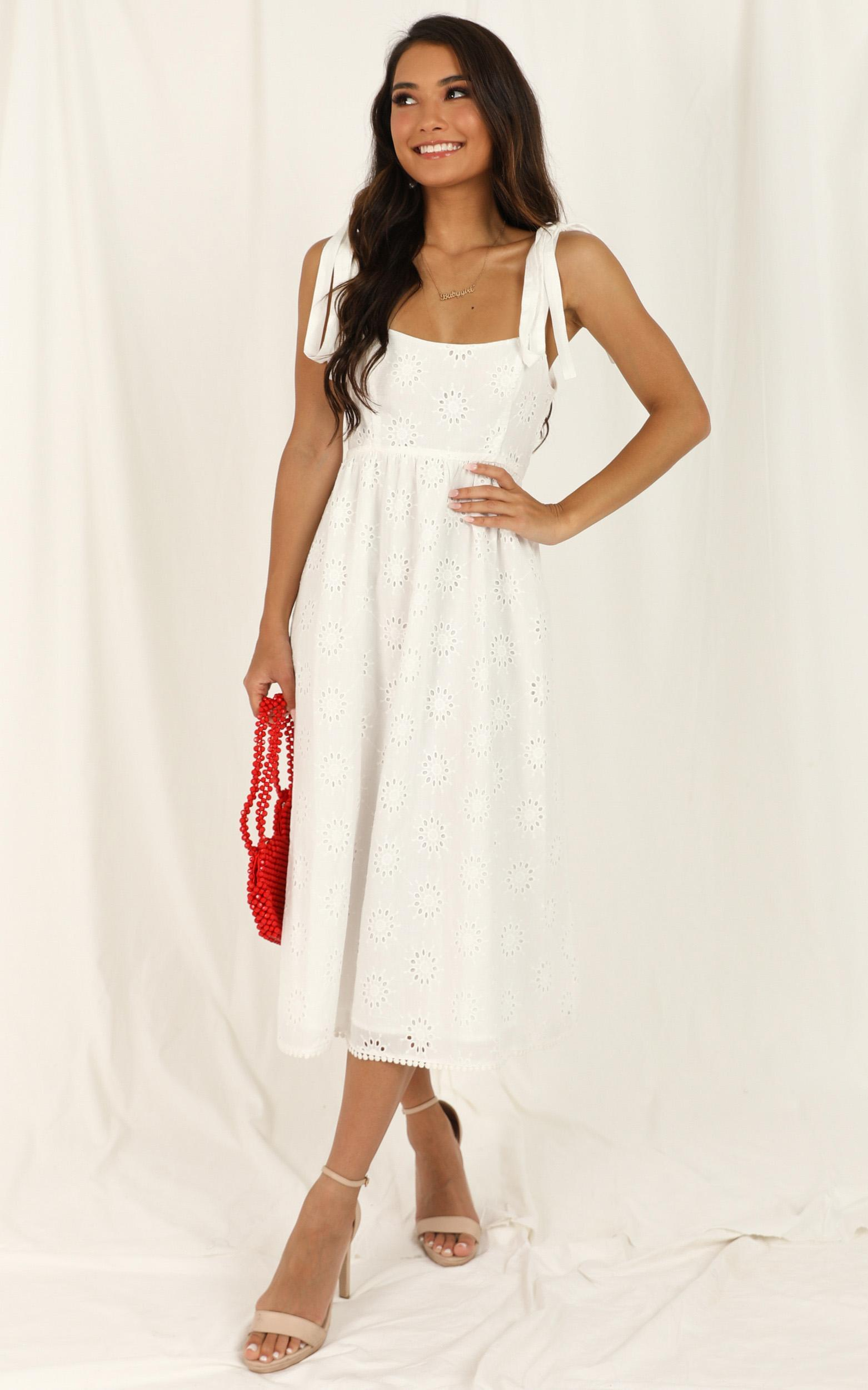 Lets Sway Dress in white embroidery - 16 (XXL), White, hi-res image number null