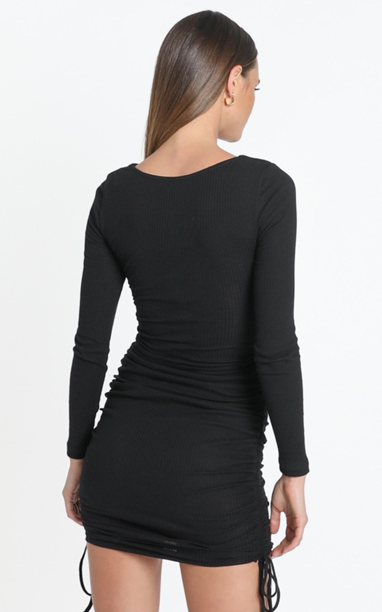 Naiya Dress in Black - 12 (L), Black, hi-res image number null