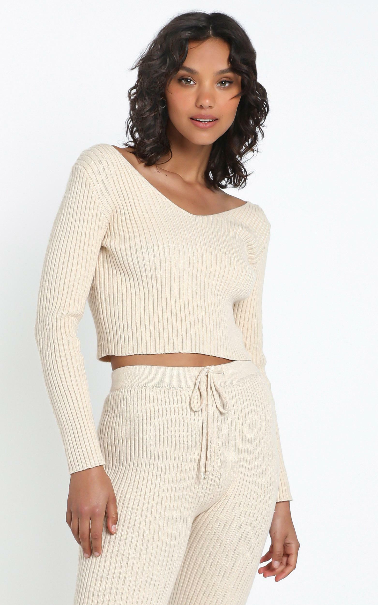 Gweneth Knit Jumper in Beige - 12 (L), Cream, hi-res image number null