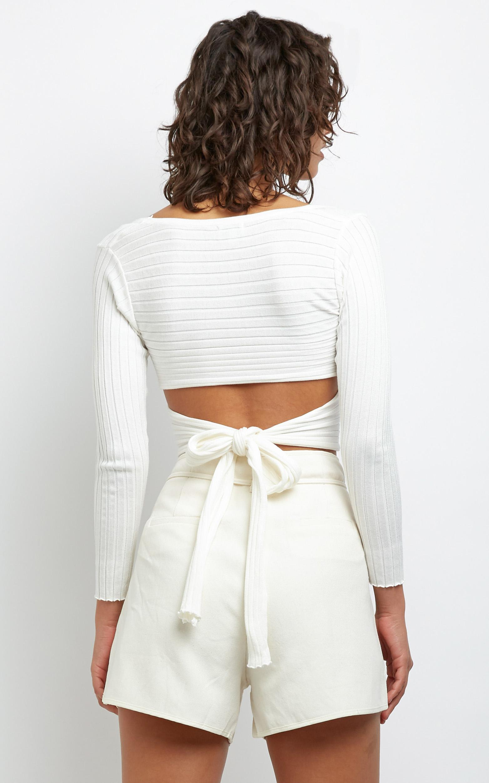 Brennan Knit Top in White - 6 (XS), WHT1, hi-res image number null
