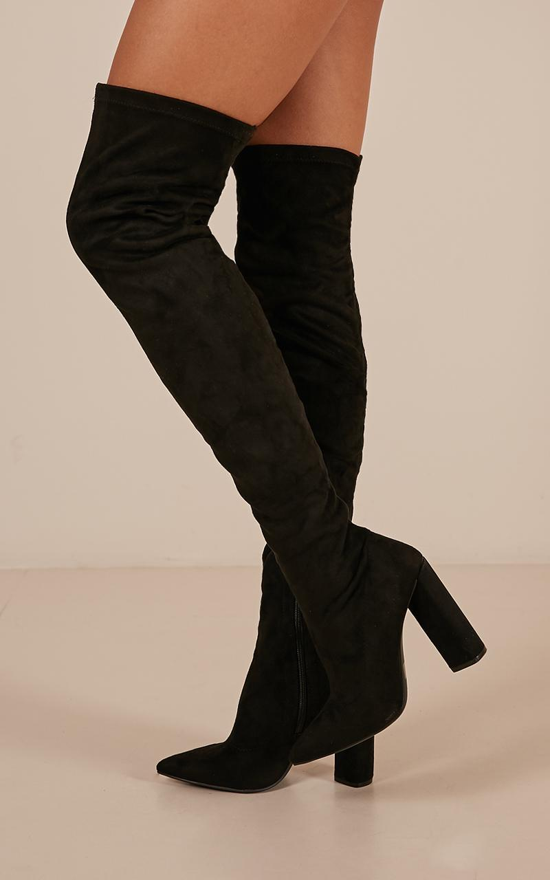 Miss boots in black micro - 5.5, Black, hi-res image number null