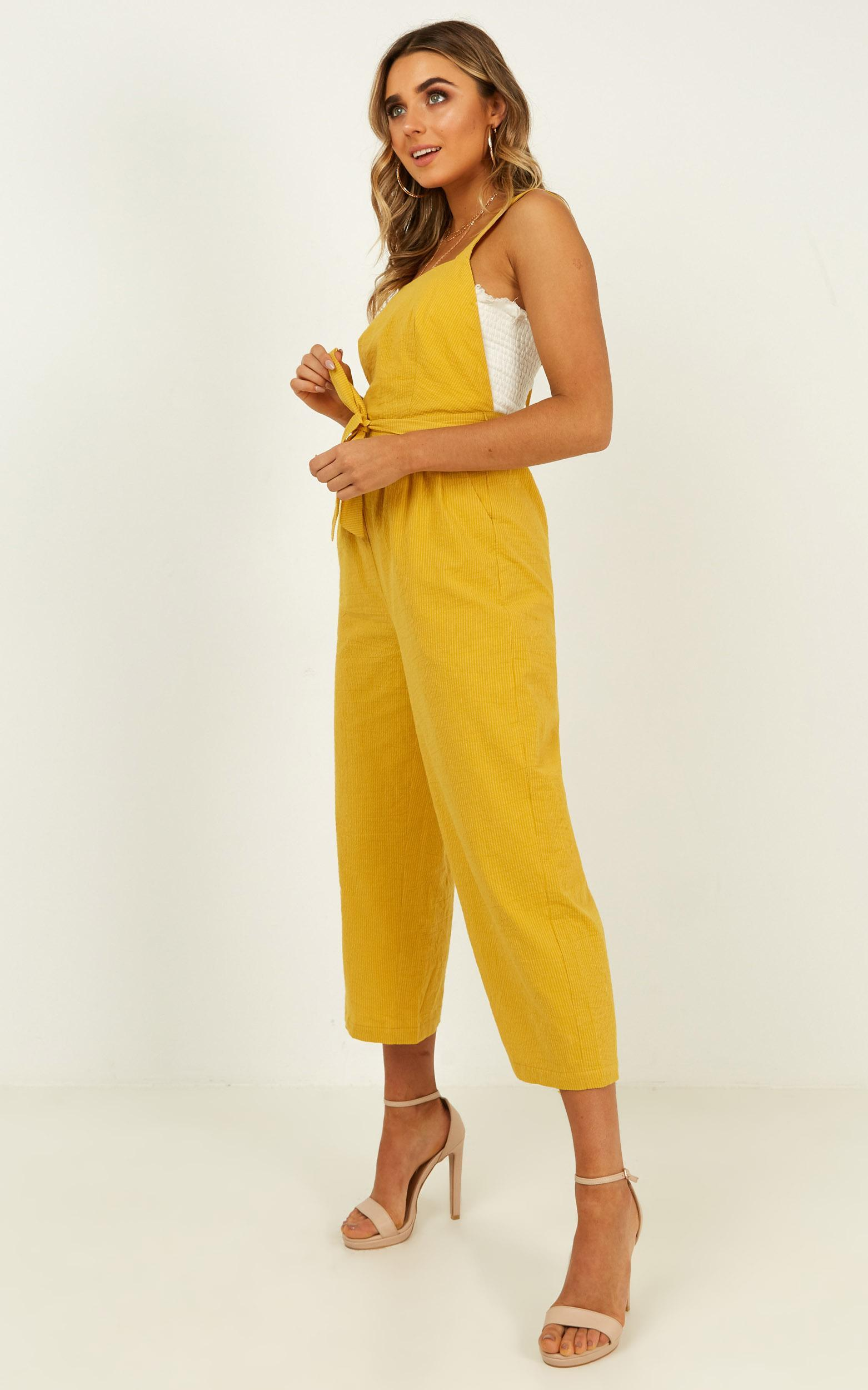 Younger Frills Jumpsuit in mustard - 20 (XXXXL), Mustard, hi-res image number null