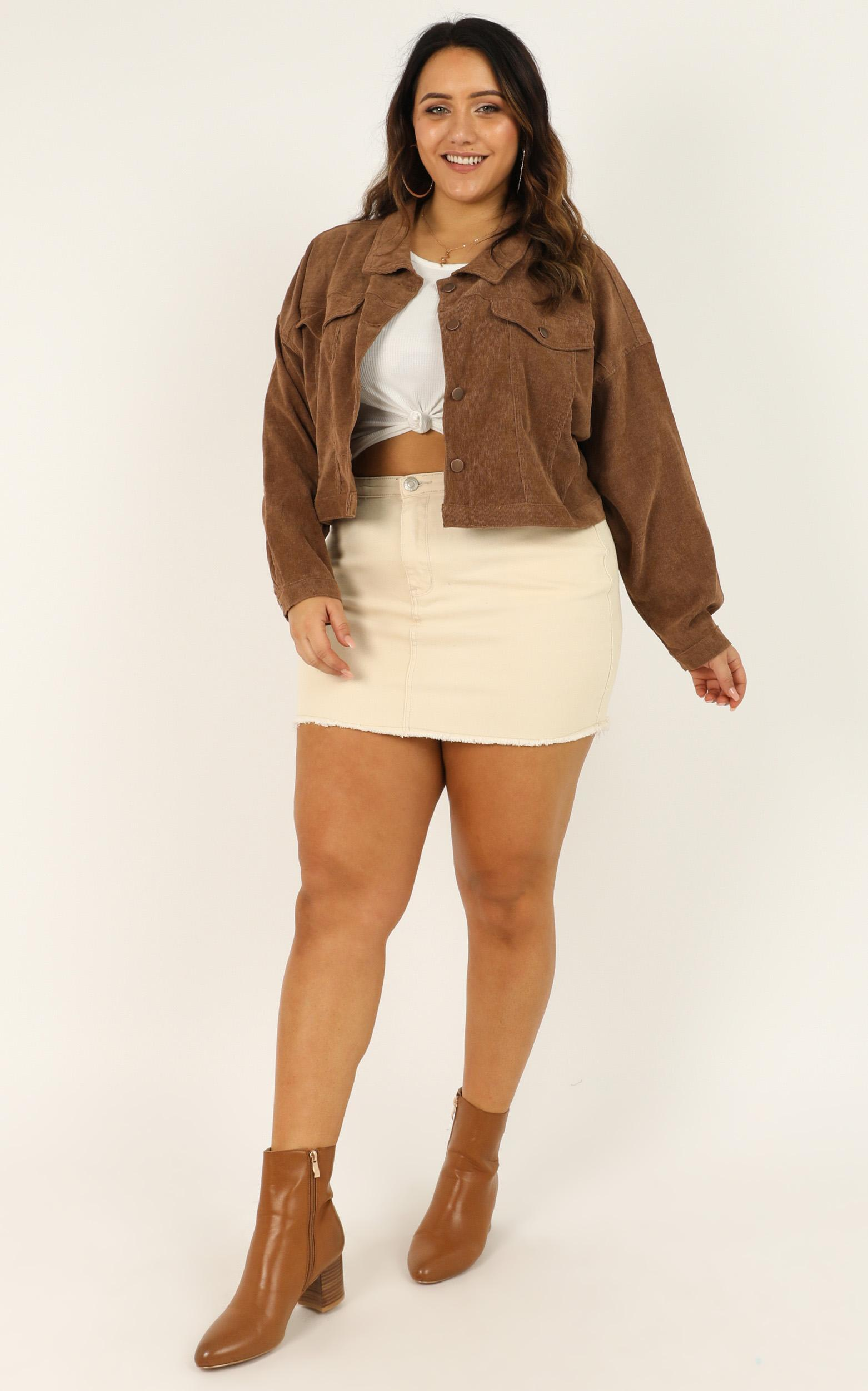 Quiet Cause Jacket in tan cord - 20 (XXXXL), Tan, hi-res image number null