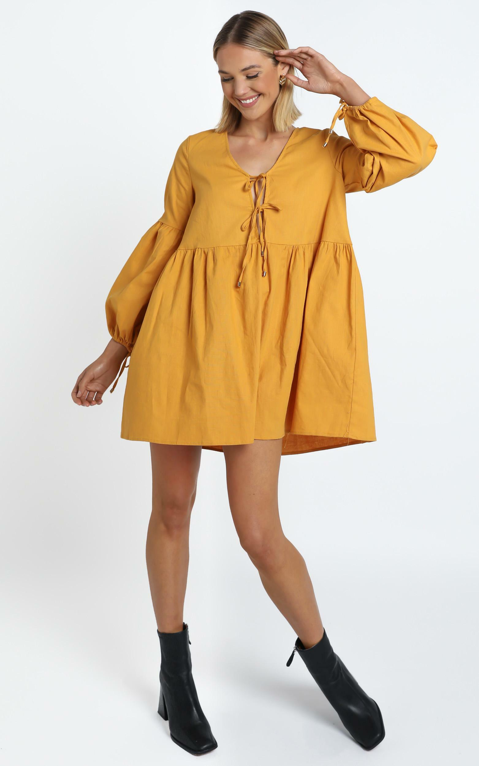 Zya The Label - Marigold Dress in Mustard - 14 (XL), YEL1, hi-res image number null