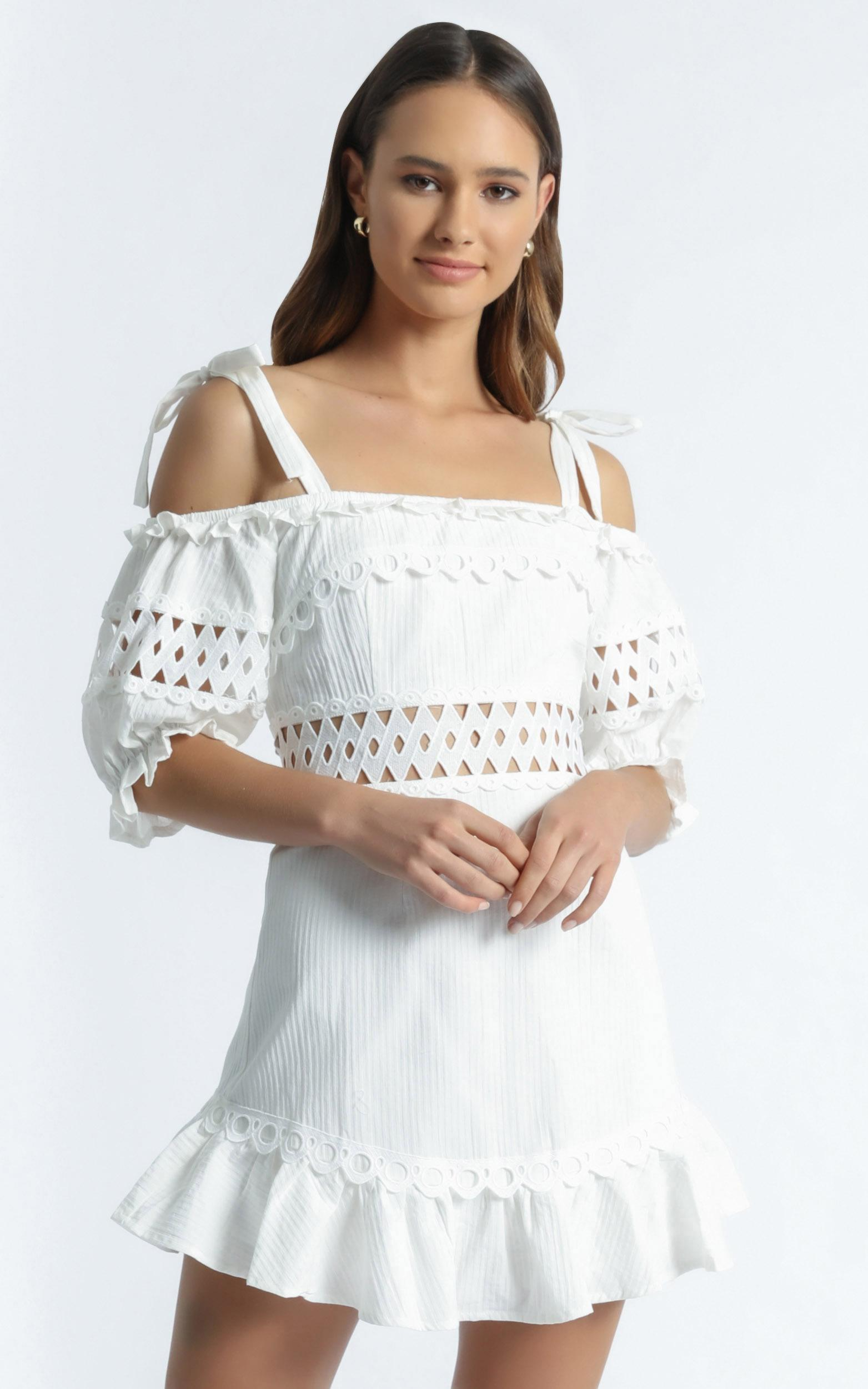 Balwyn Dress in White - 6 (XS), White, hi-res image number null