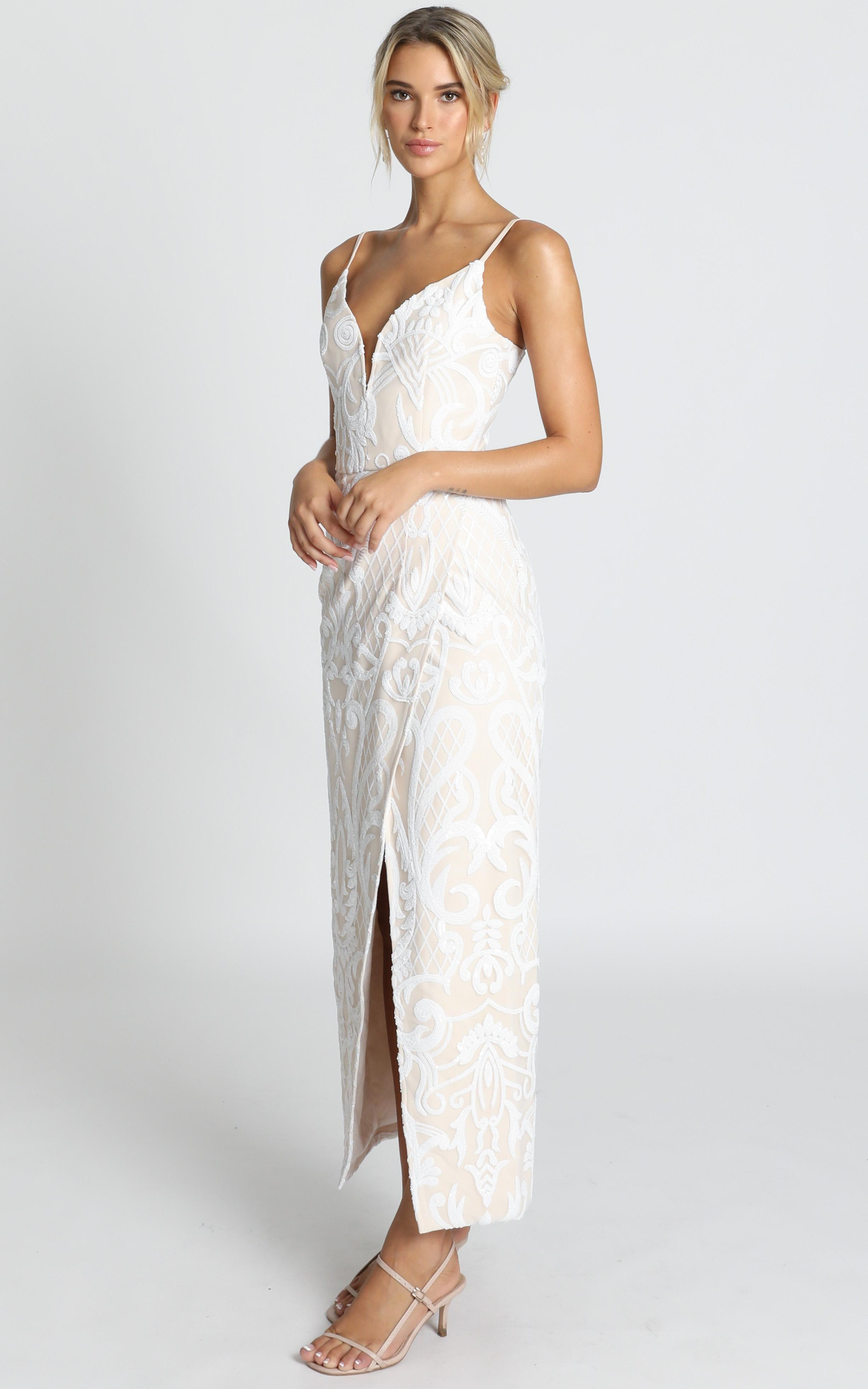 This is love gown in white sequin - 20 (XXXXL), White, hi-res image number null